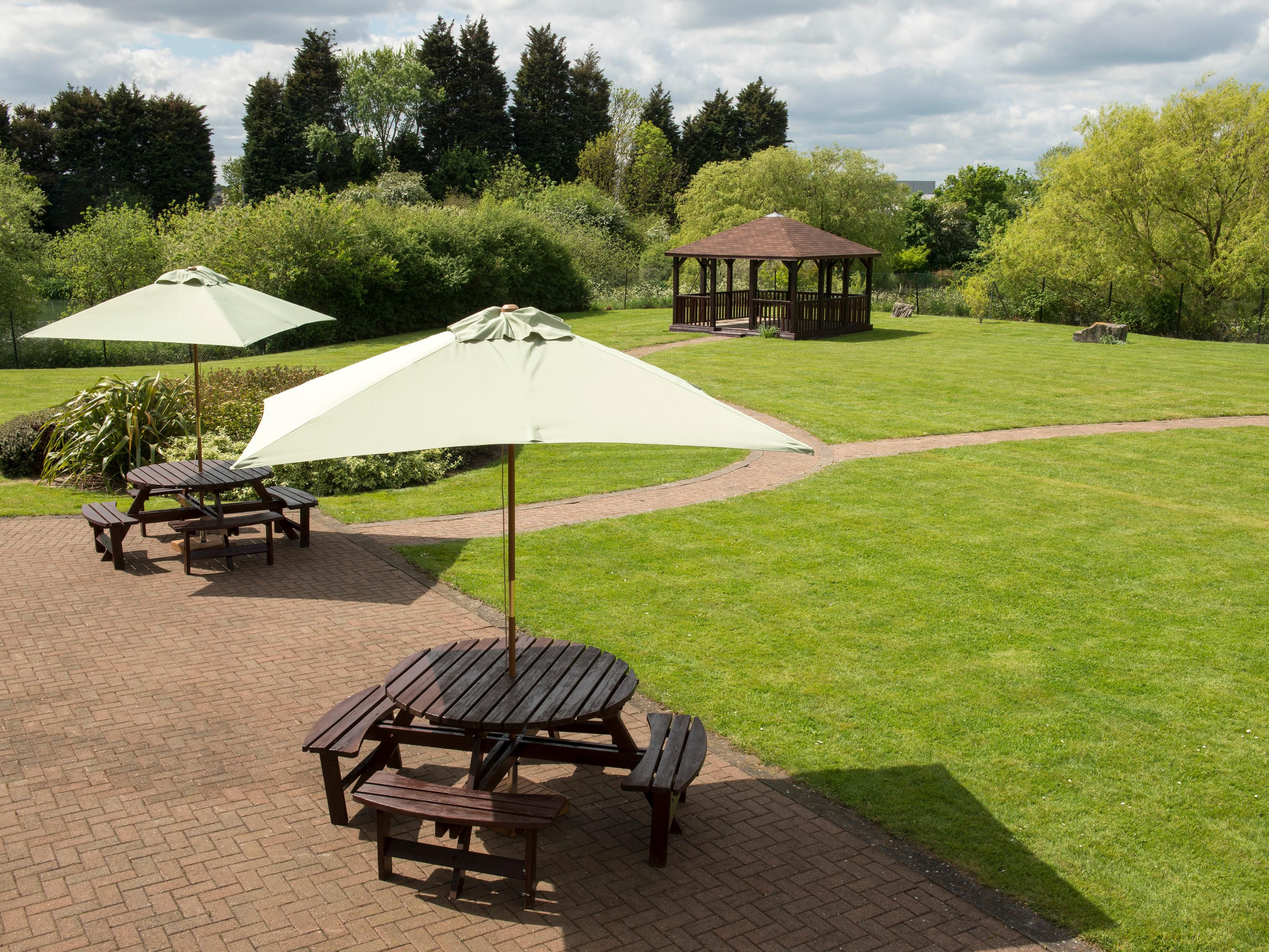 Enjoy the views of our external ground from the lounge bar