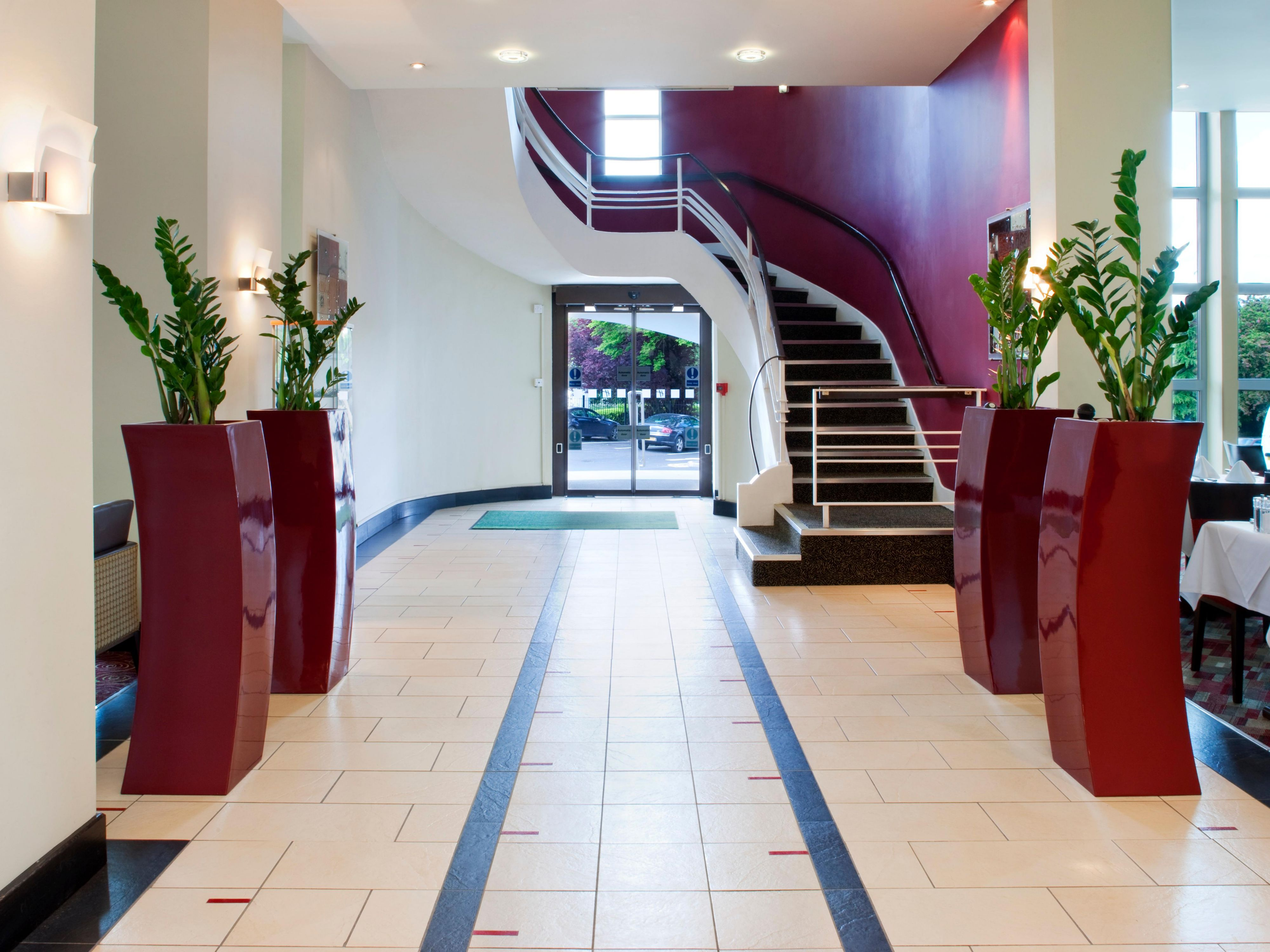 Hotel front entrance area