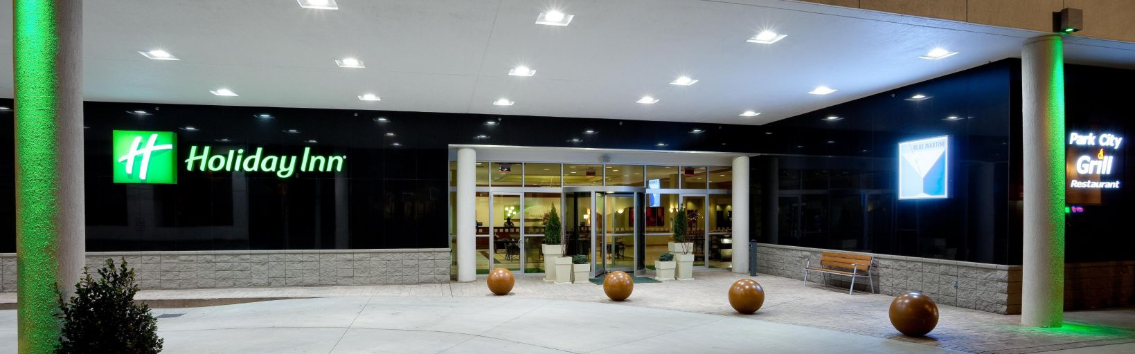 Front Entrance At Night Hotel