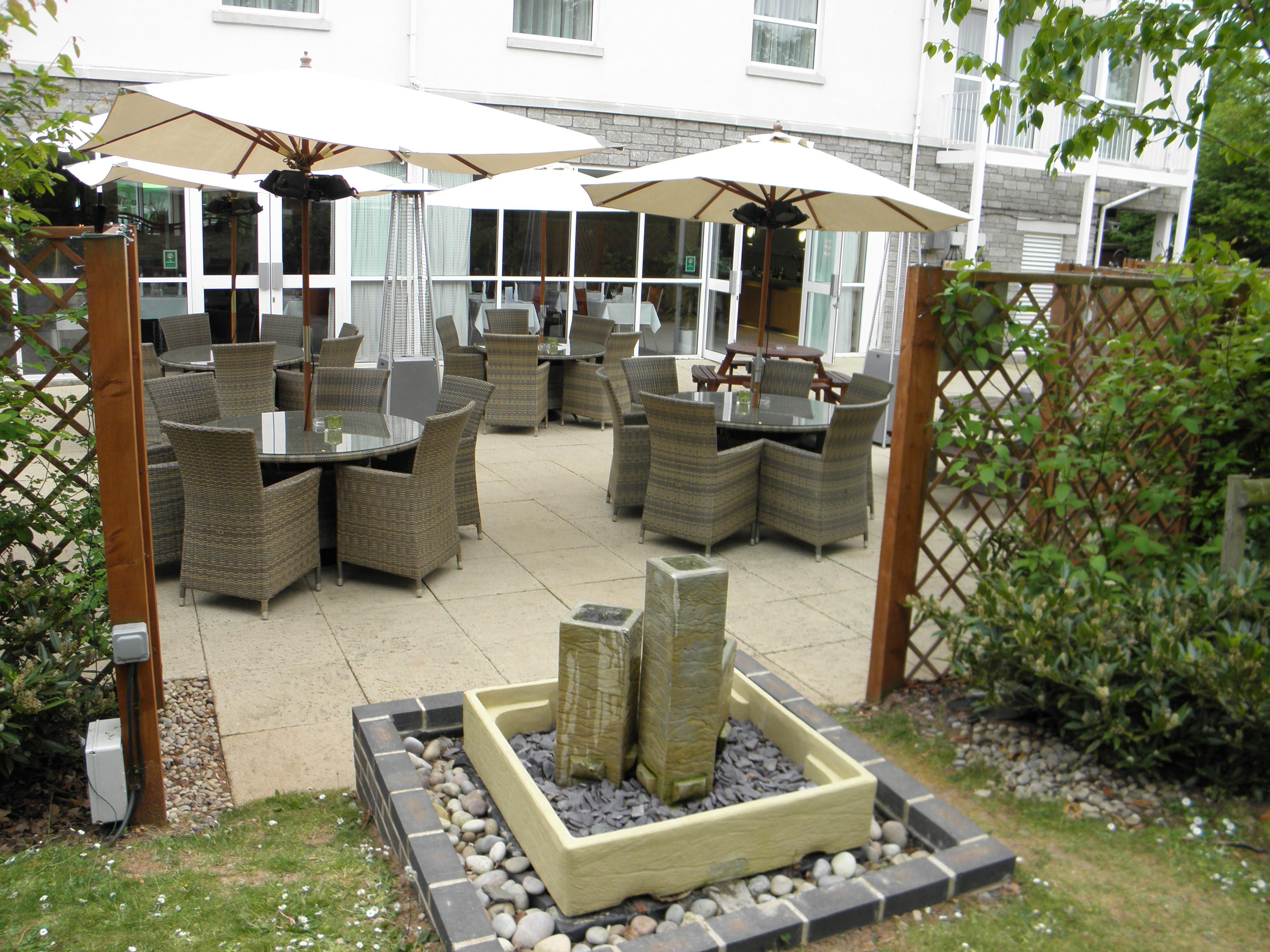 Our patio area perfect to enjoy a glass of wine in the summer.
