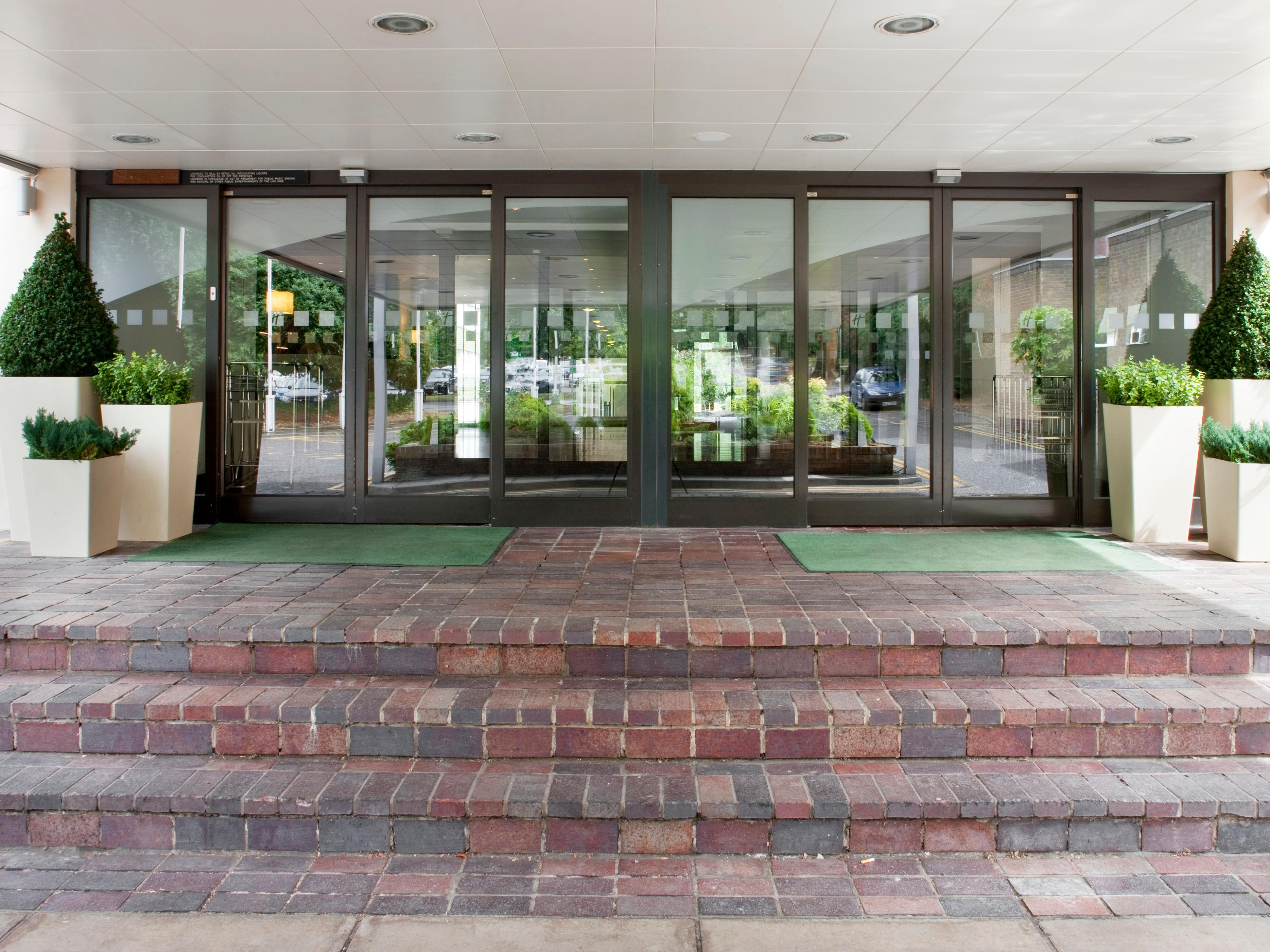 Our entrance at the Holiday Inn Bristol Filton