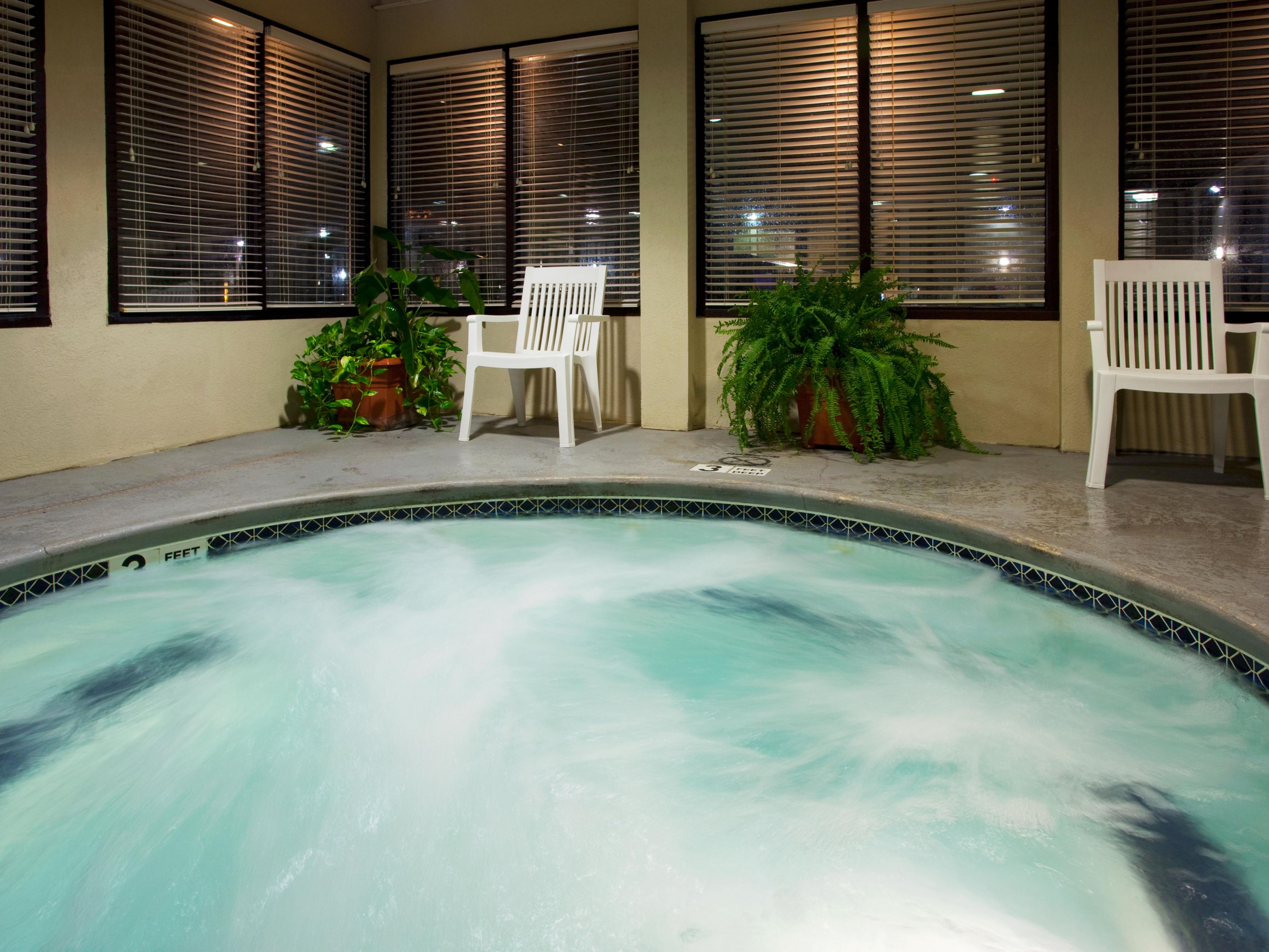 Our whirlpool is a great place to relax after a busy day.