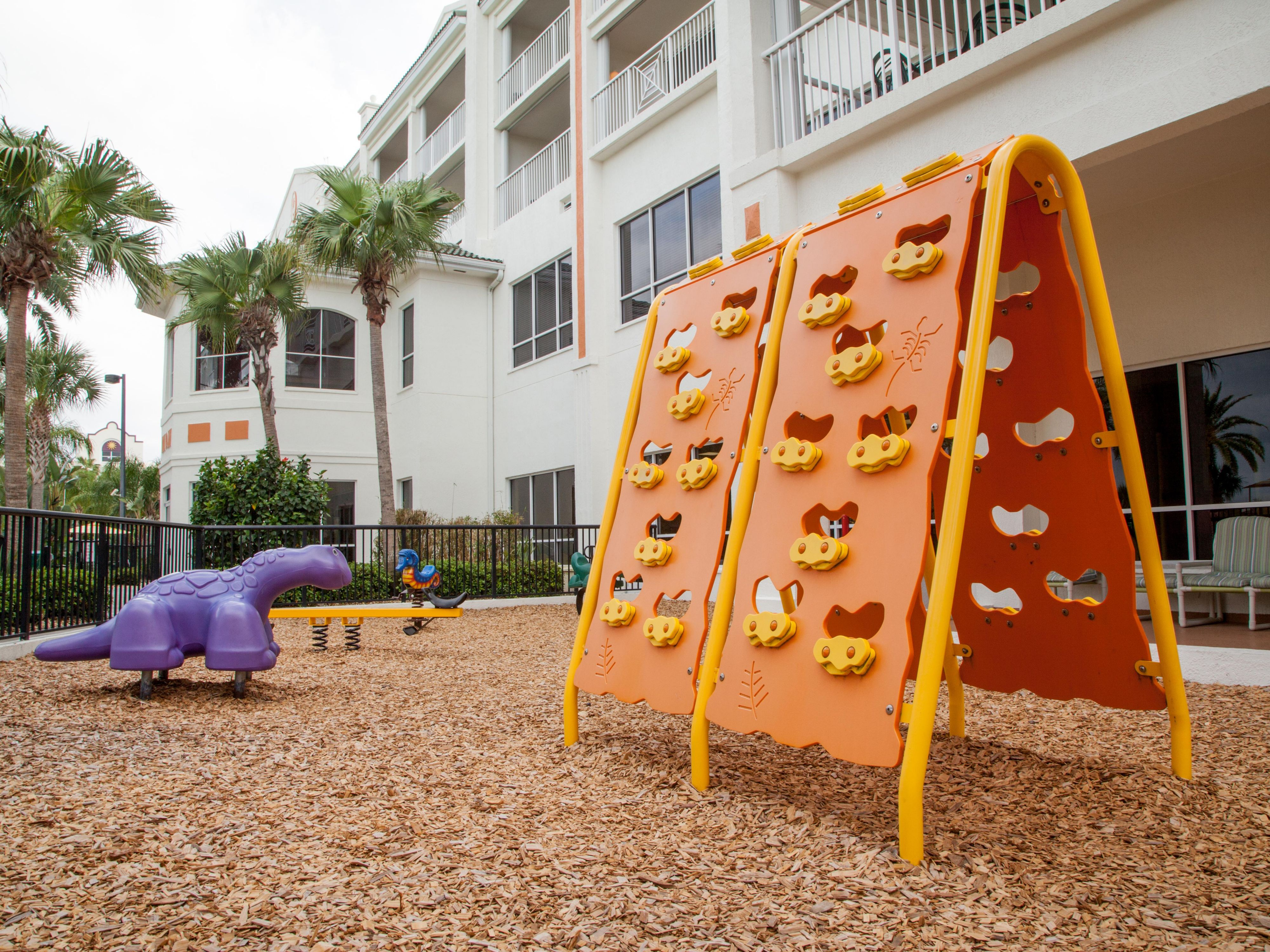 Children can have fun at the outdoor playground