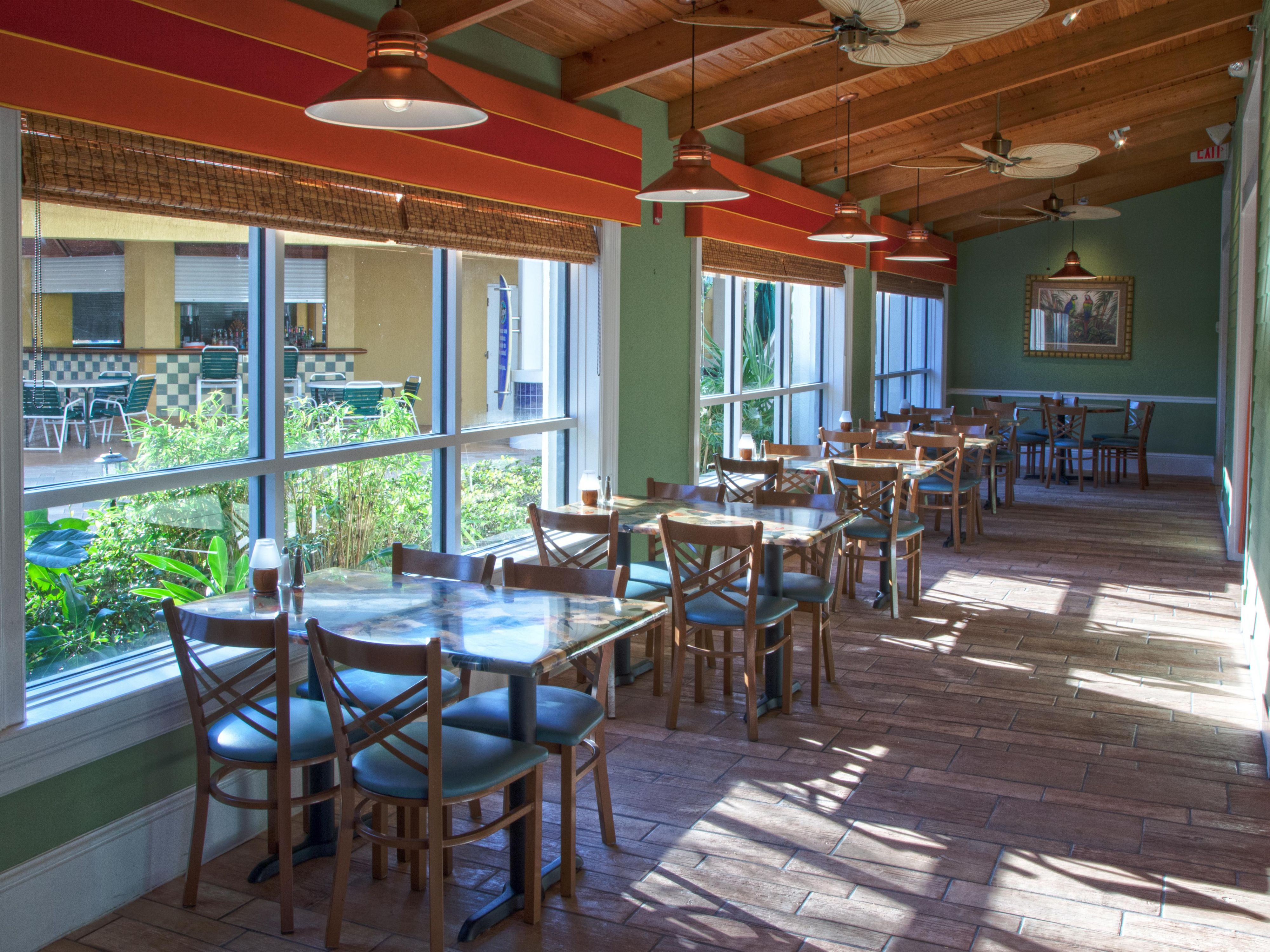 Guests can dine onsite at Cape Grill & Bar