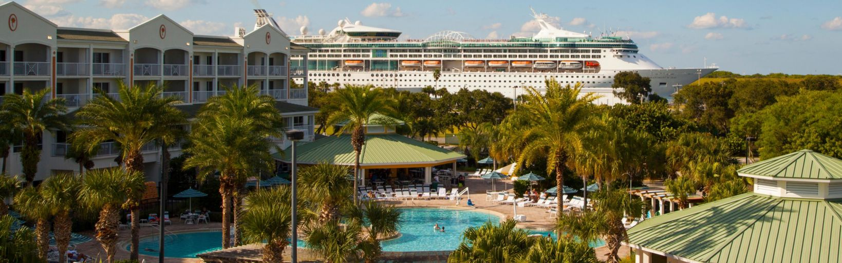 Cape Canaveral Beach Resort Guests Can Watch The Excitement Of Large Cruise Ships