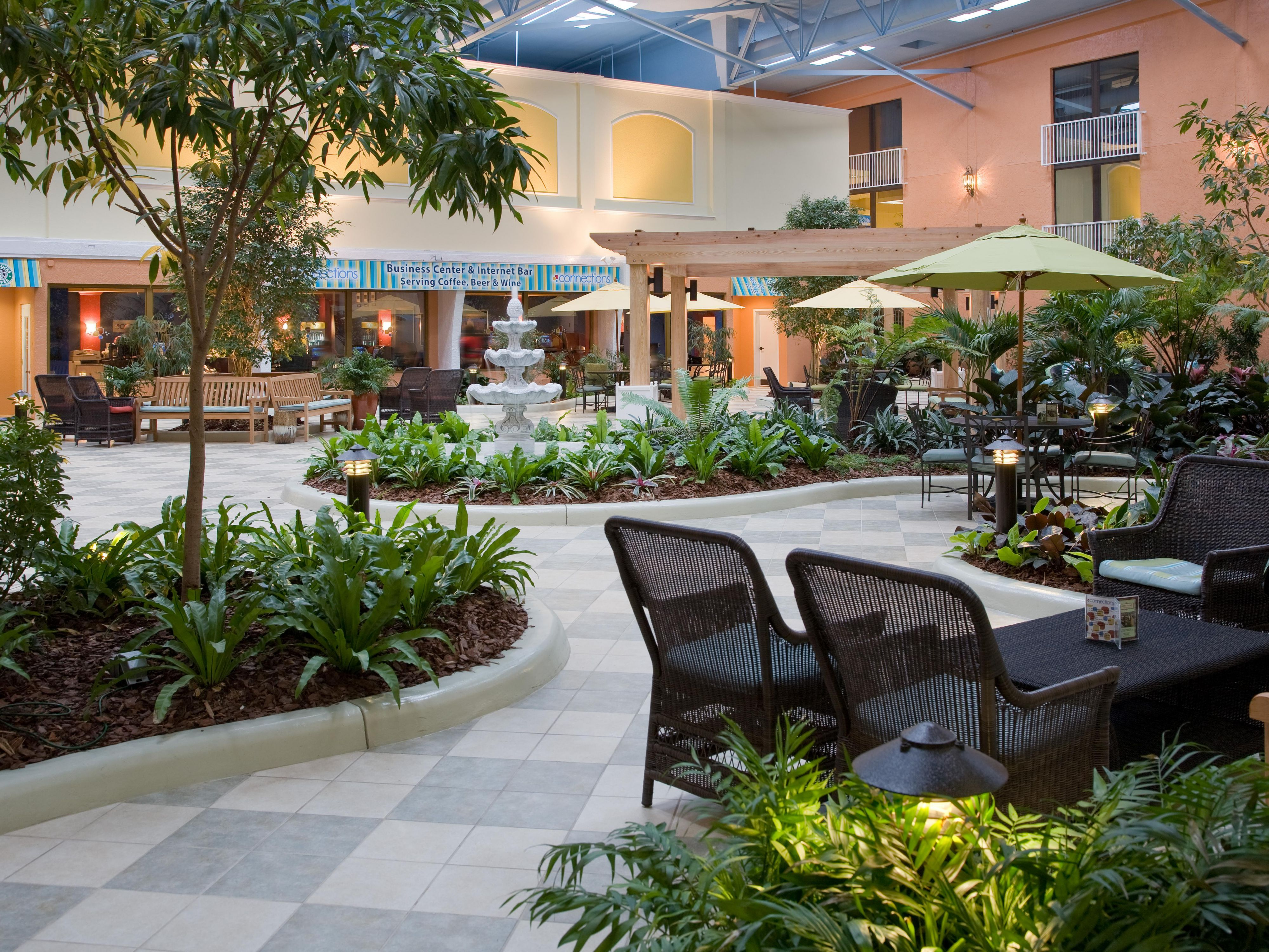 West Village Atrium for guest to enjoy