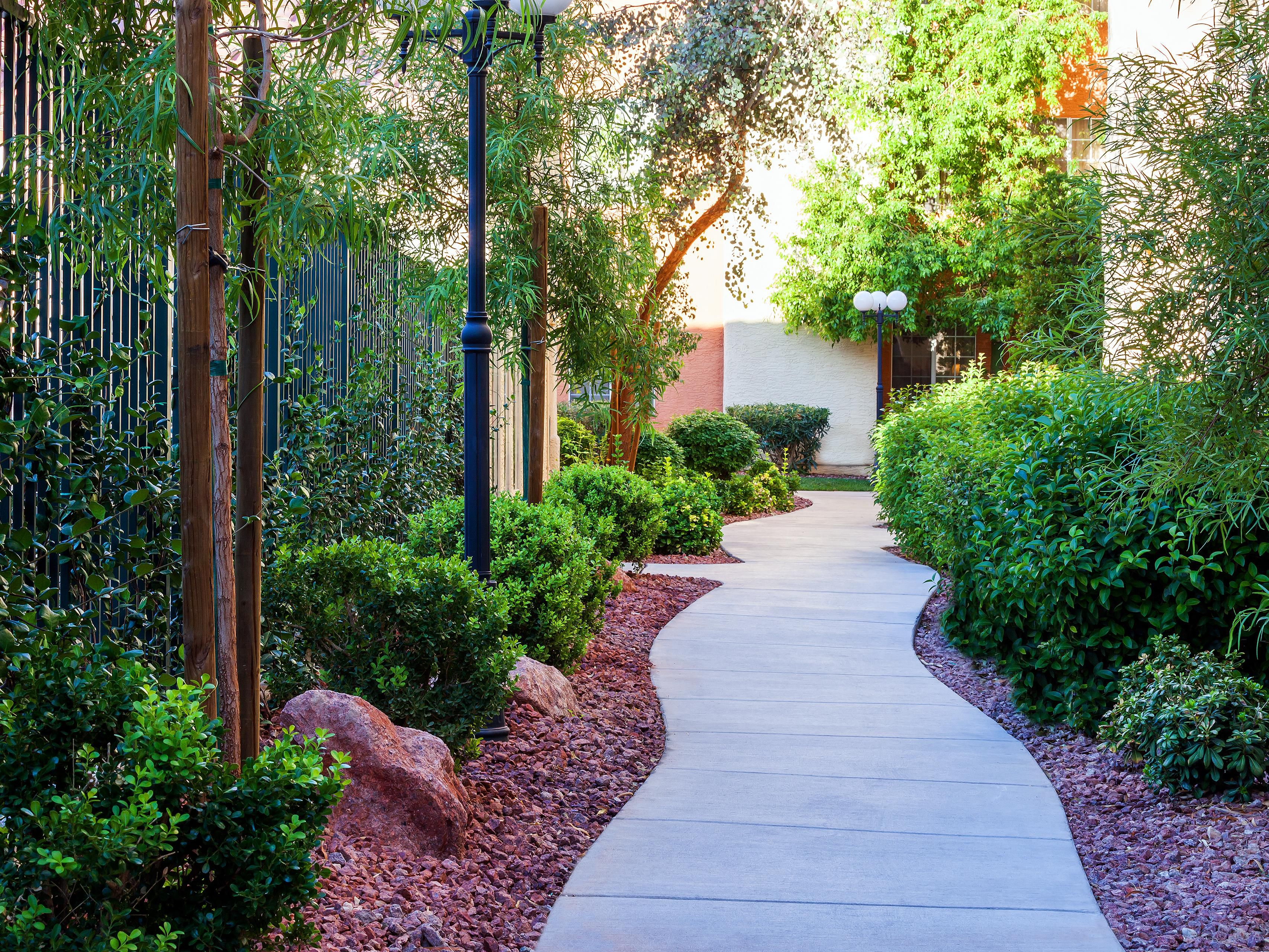 Enjoy the beautifully landscaped walk ways throughout the resort