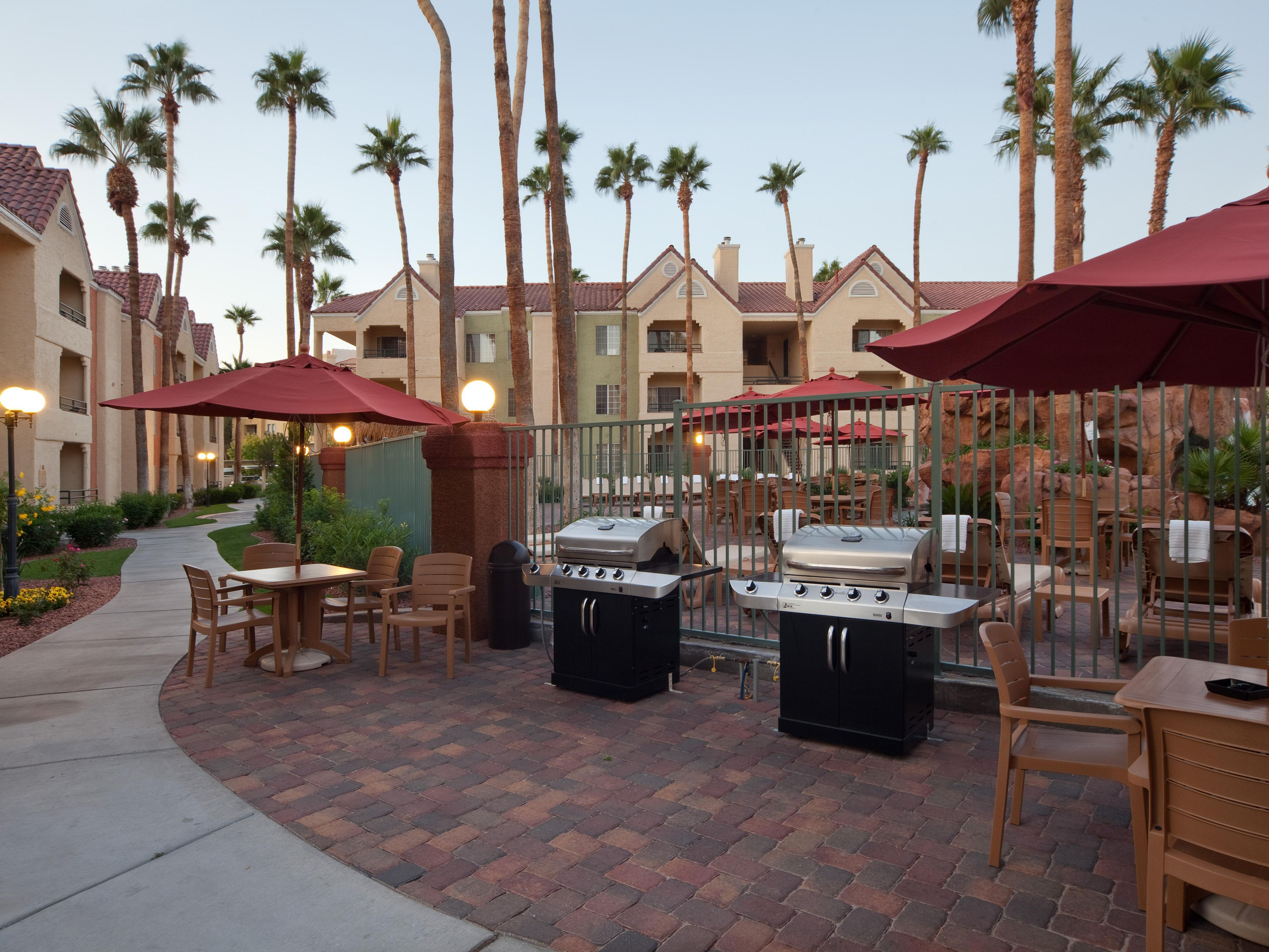 Enjoy the outdoor grills located throughout the resort
