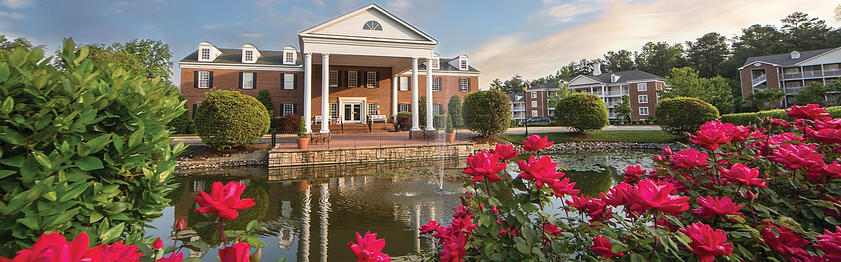 e8191e475 Welcome to Holiday Inn Club Vacations Williamsburg Resort! Bright scenery  surrounds the main building ...