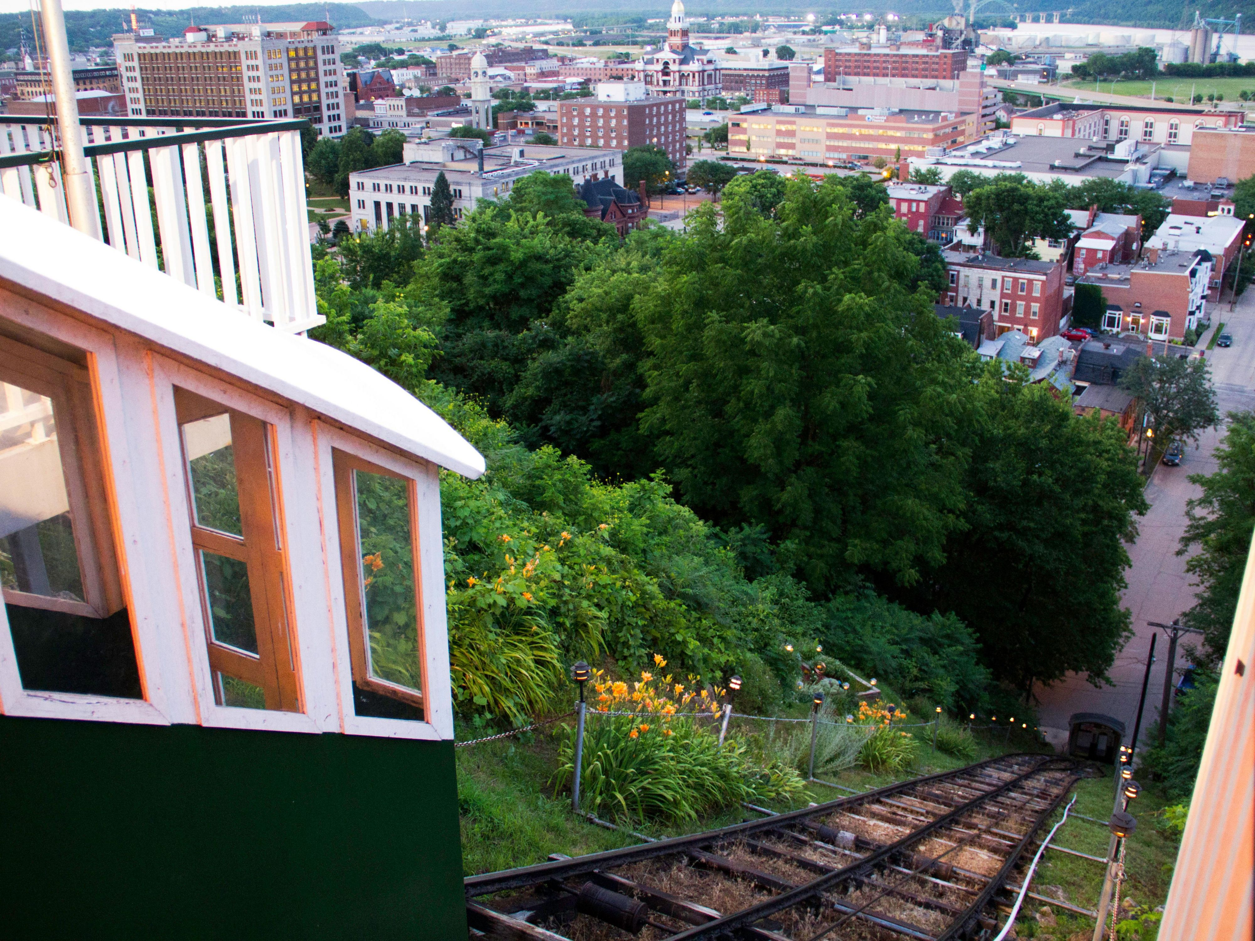 Enjoy the view from the top of the Fenelon Place Elevator