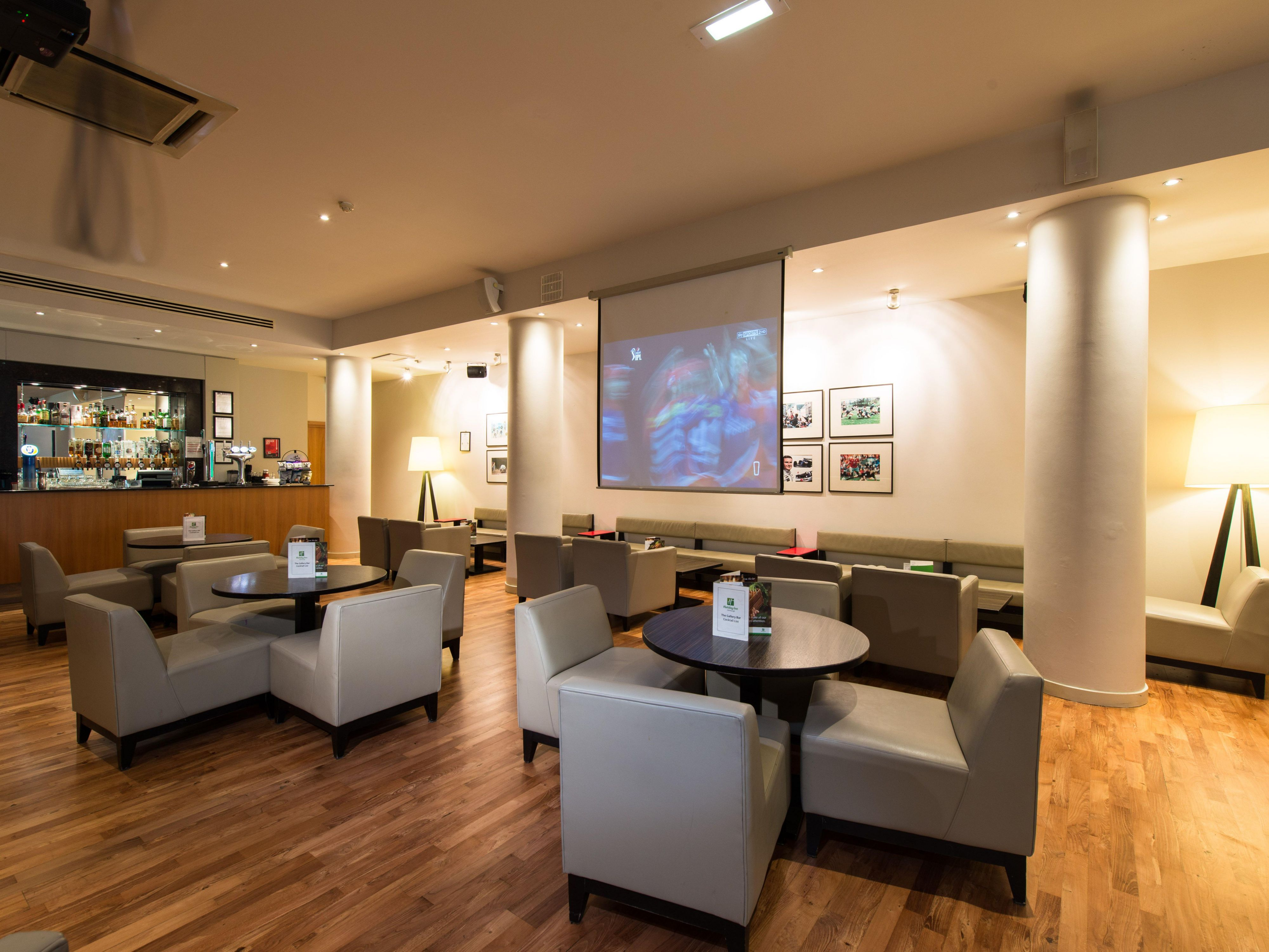 Lobby Bar With Large Screen