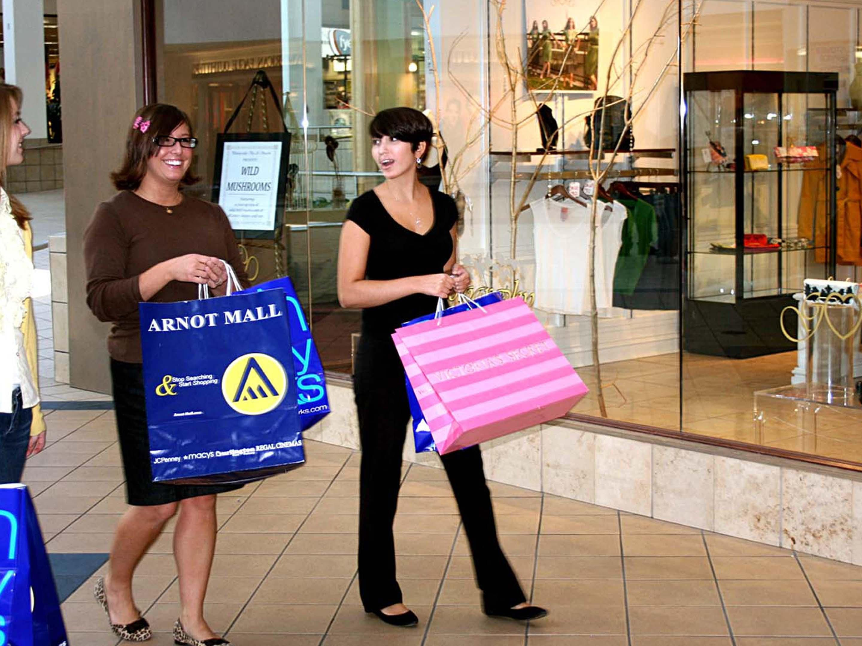 Shopping at the Arnot Mall