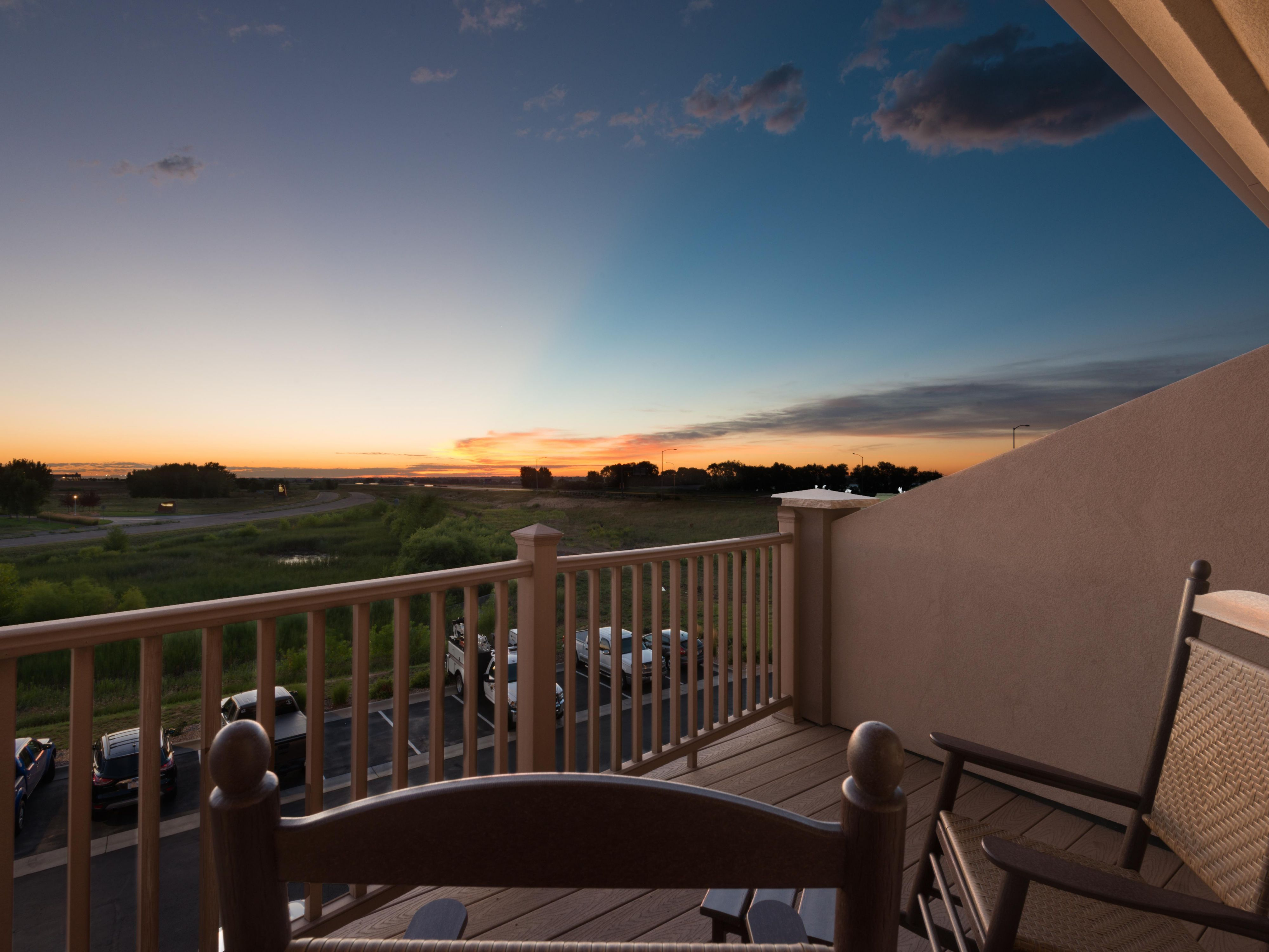 Enjoy the breeze from your guest room balcony