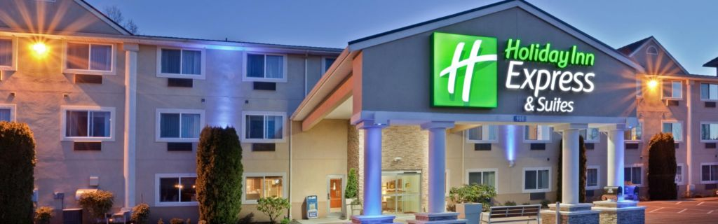 Hotel Entrance At Dawn Exterior