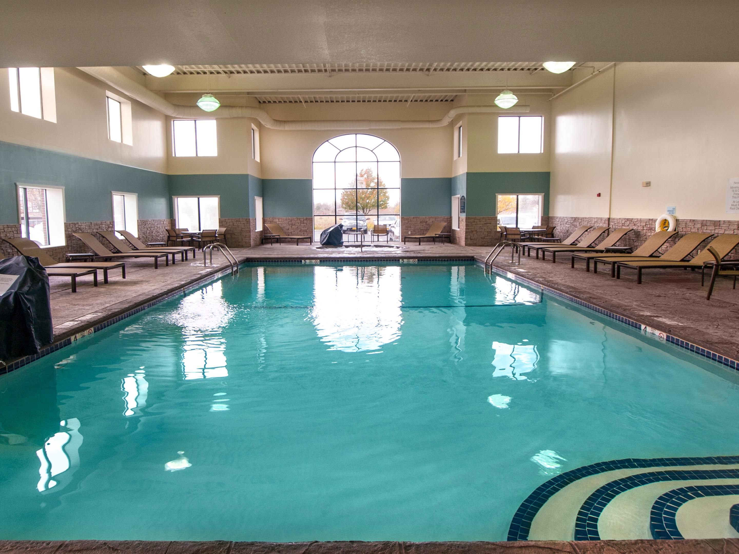 Unwind in our heated indoor pool