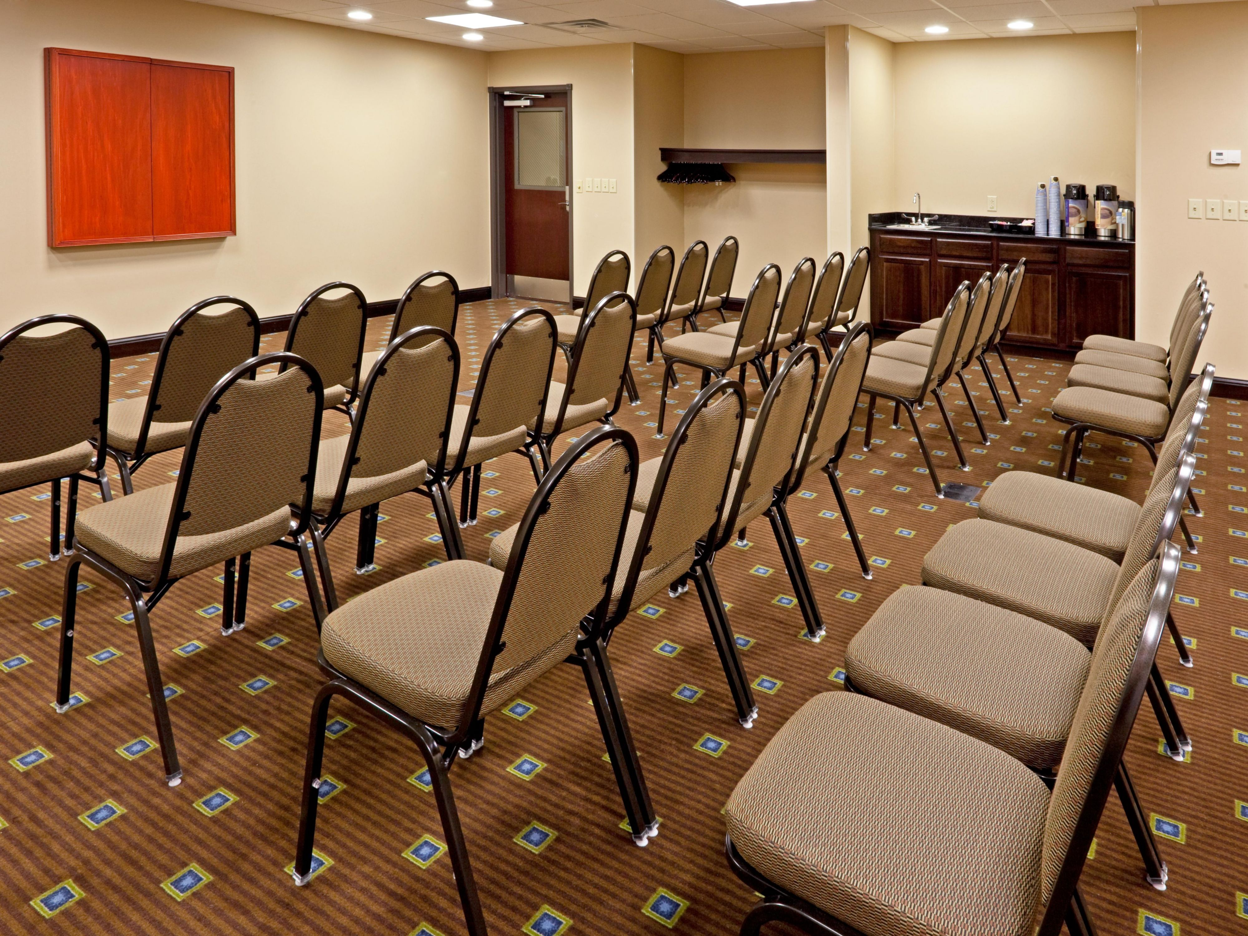 Our meeting room accomodates up to thirty guests.