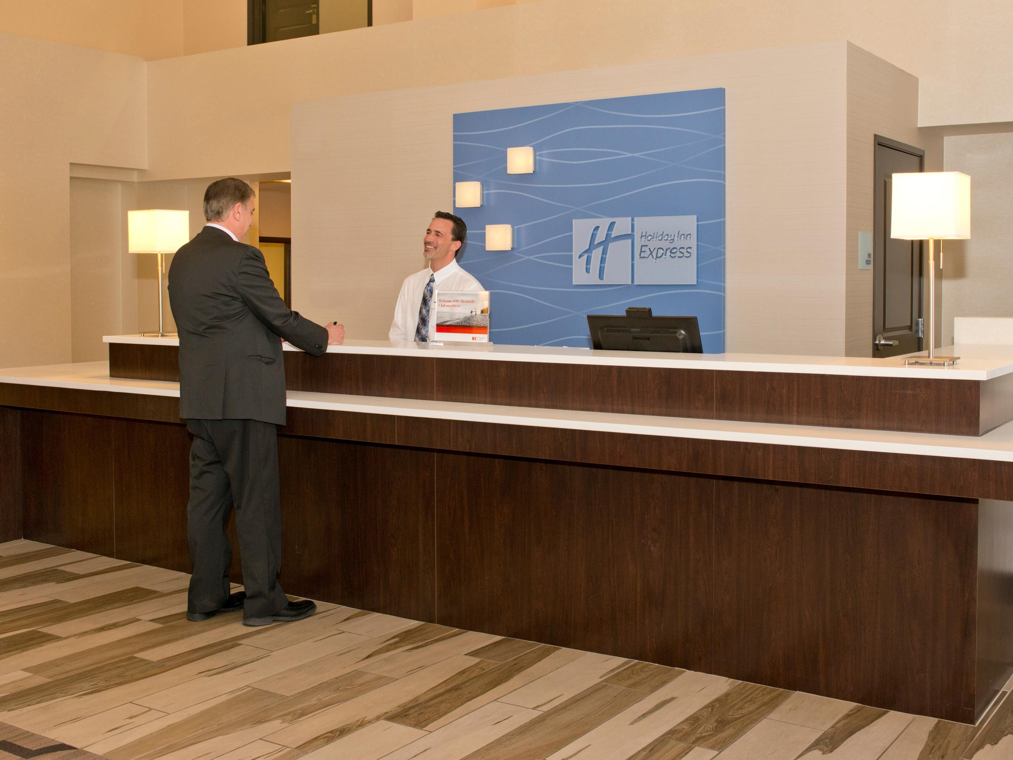 Fast and friendly check-in at our Front Desk