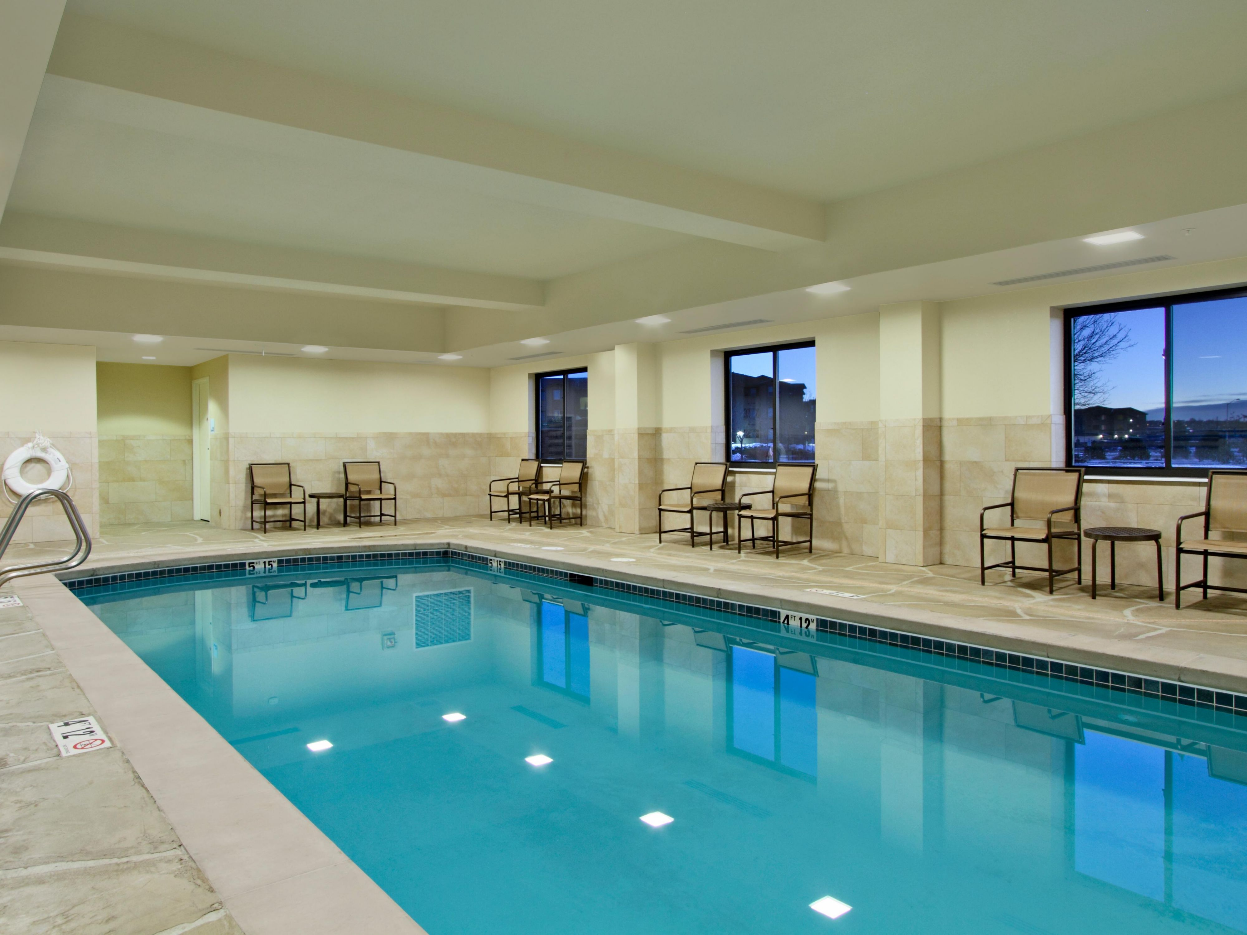 Enjoy a heated indoor pool at our beautiful Colorado Springs hotel
