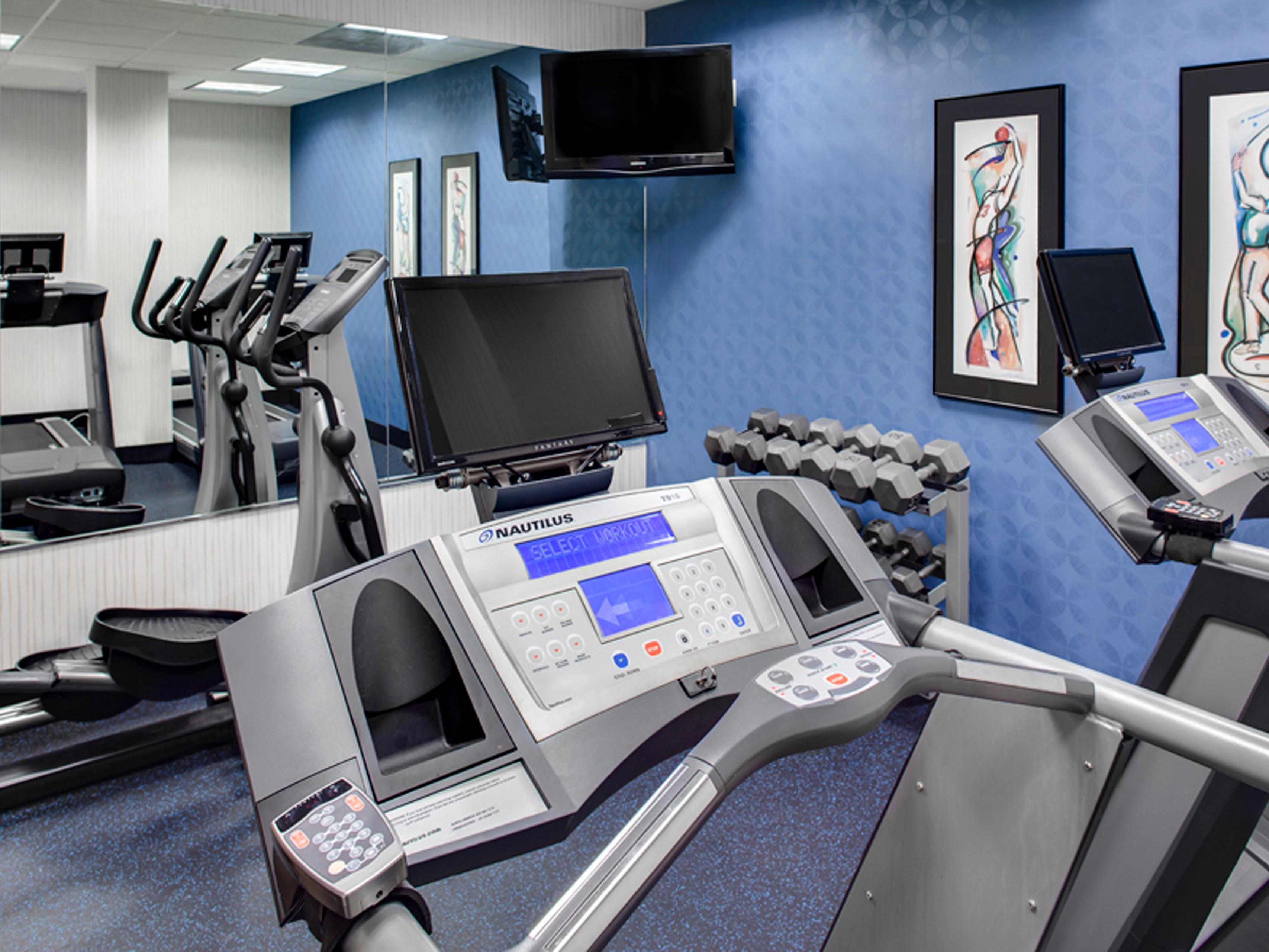Continue your workout in our Fitness Room!