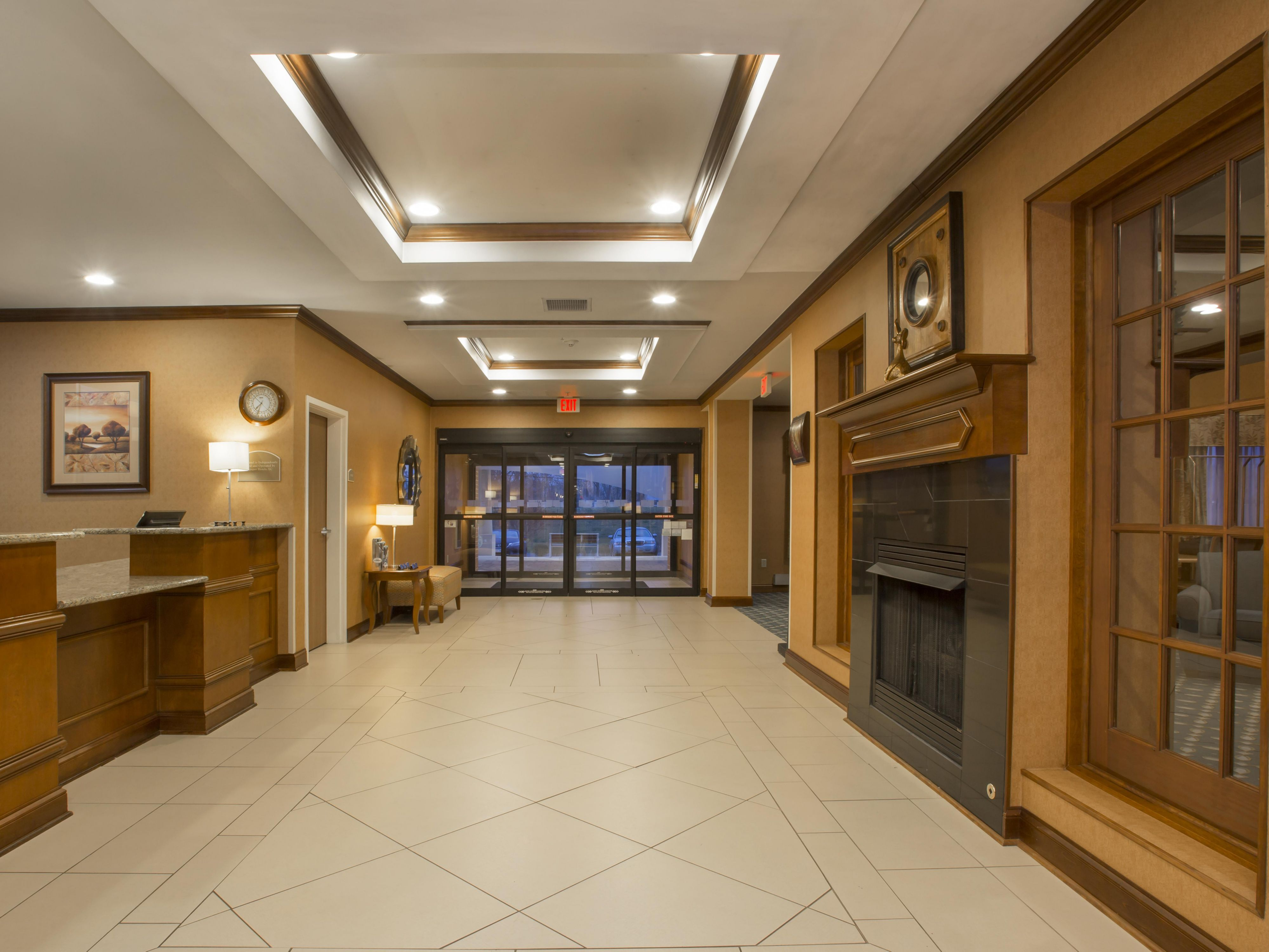 Step inside our spacious Lobby