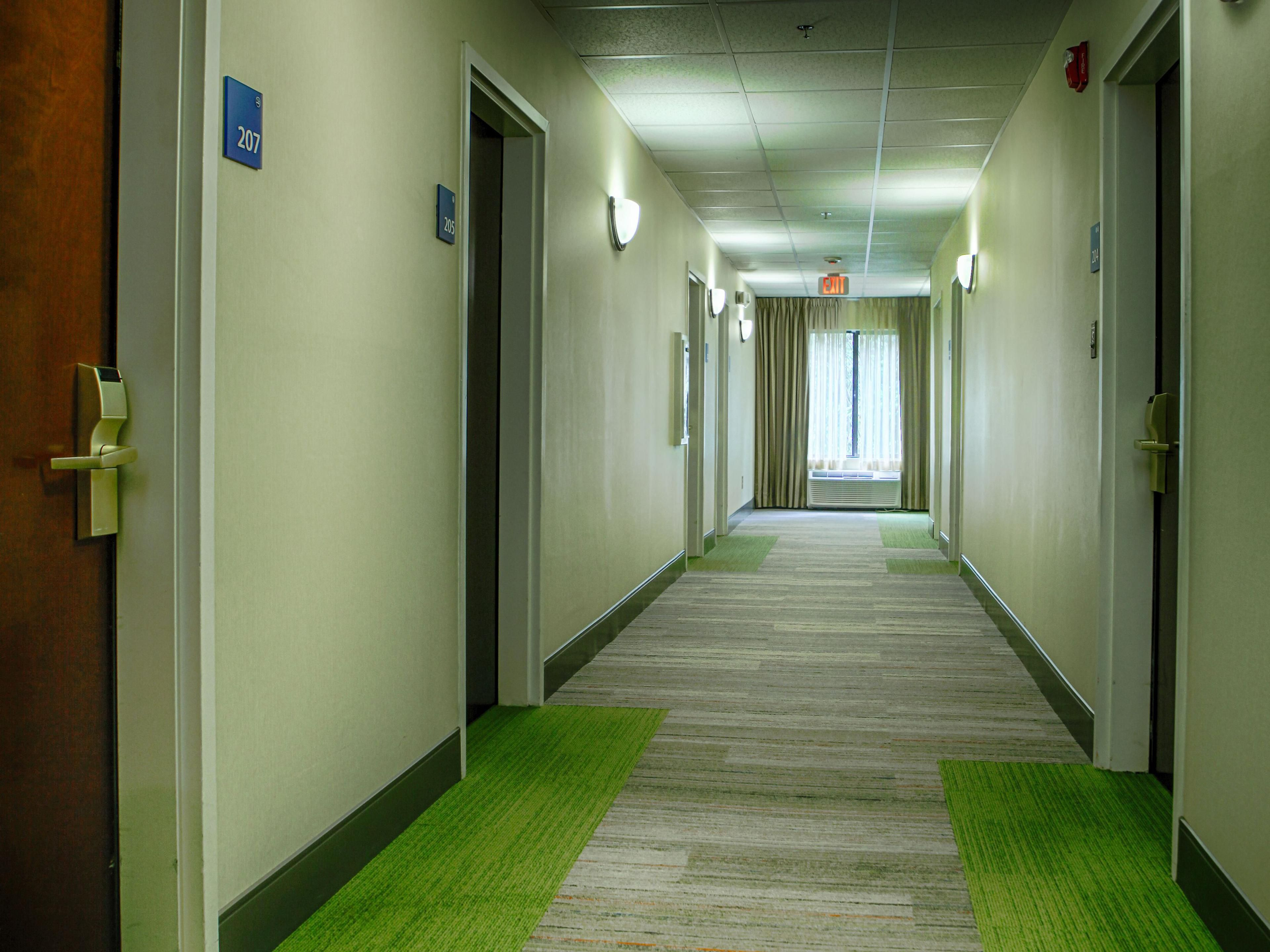 Indoor Corridor Guest Rooms