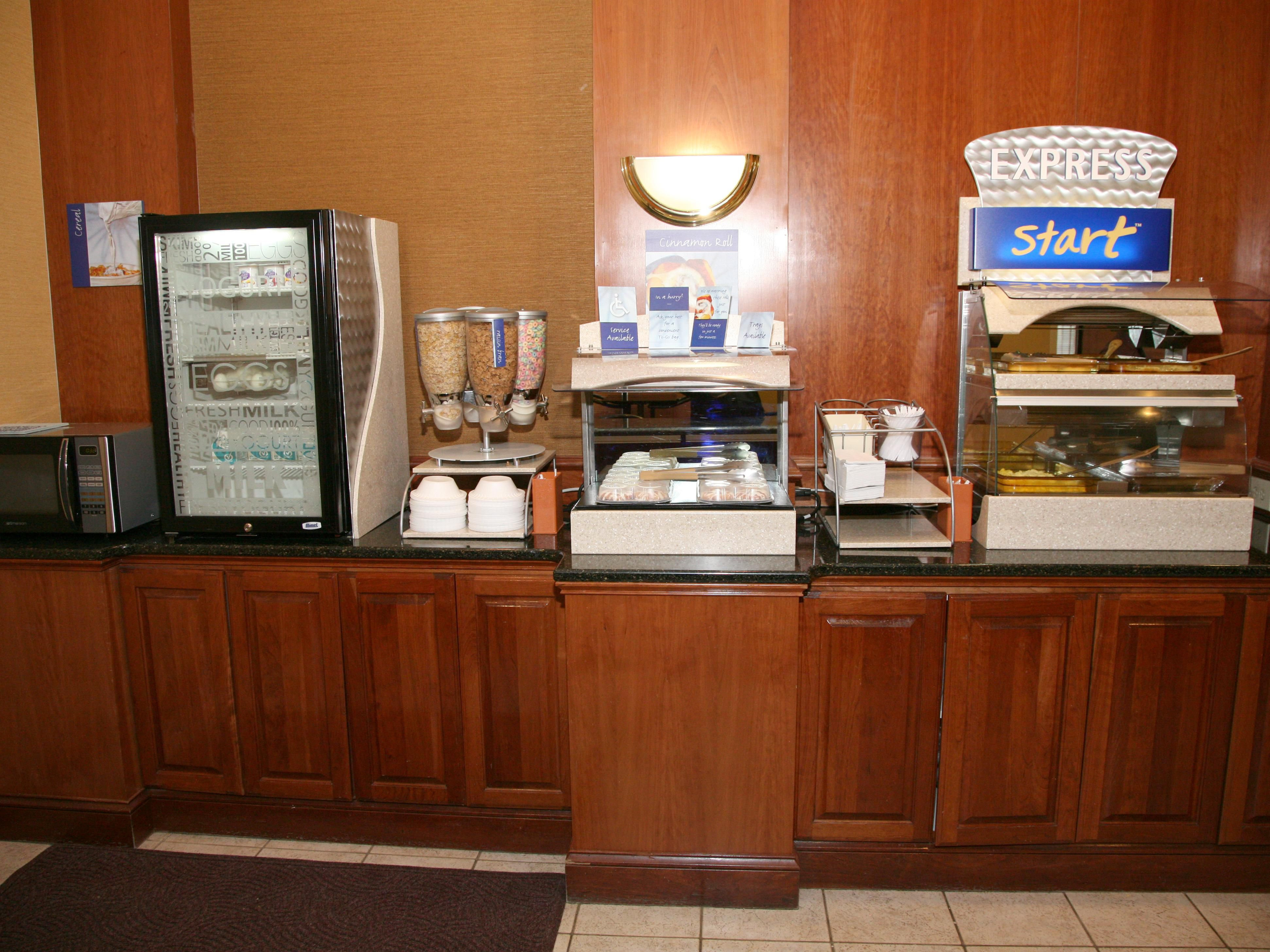 Up Close View of Breakfast Bar
