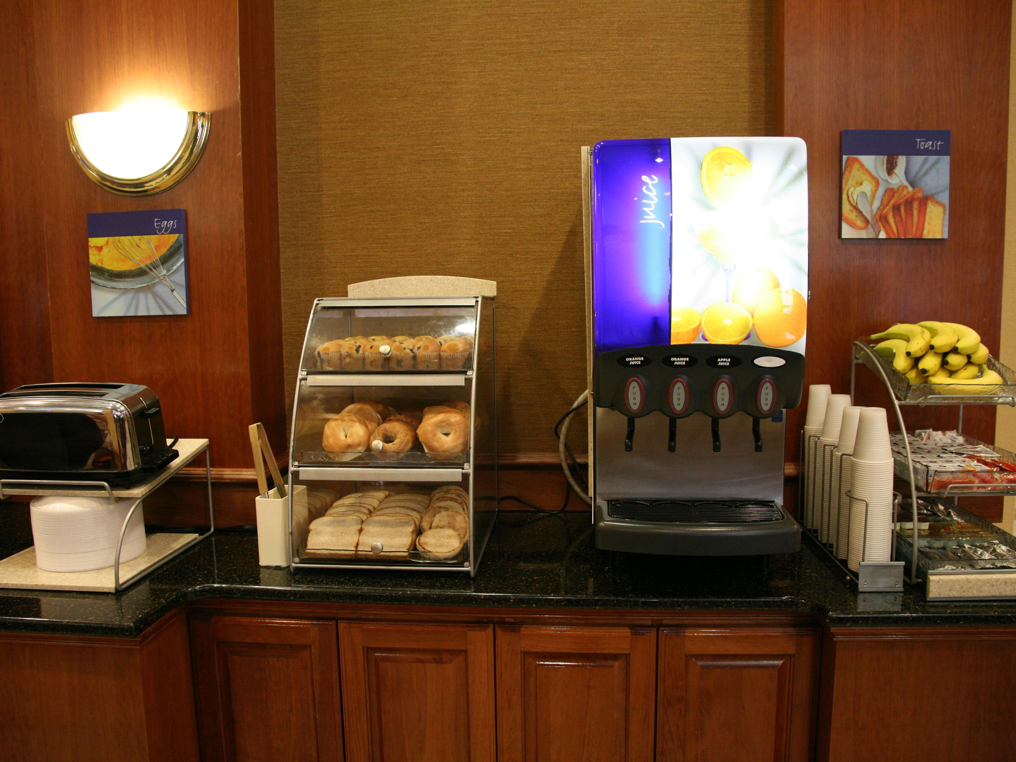 Baked Items and Beverages are Available Free during Breakfast