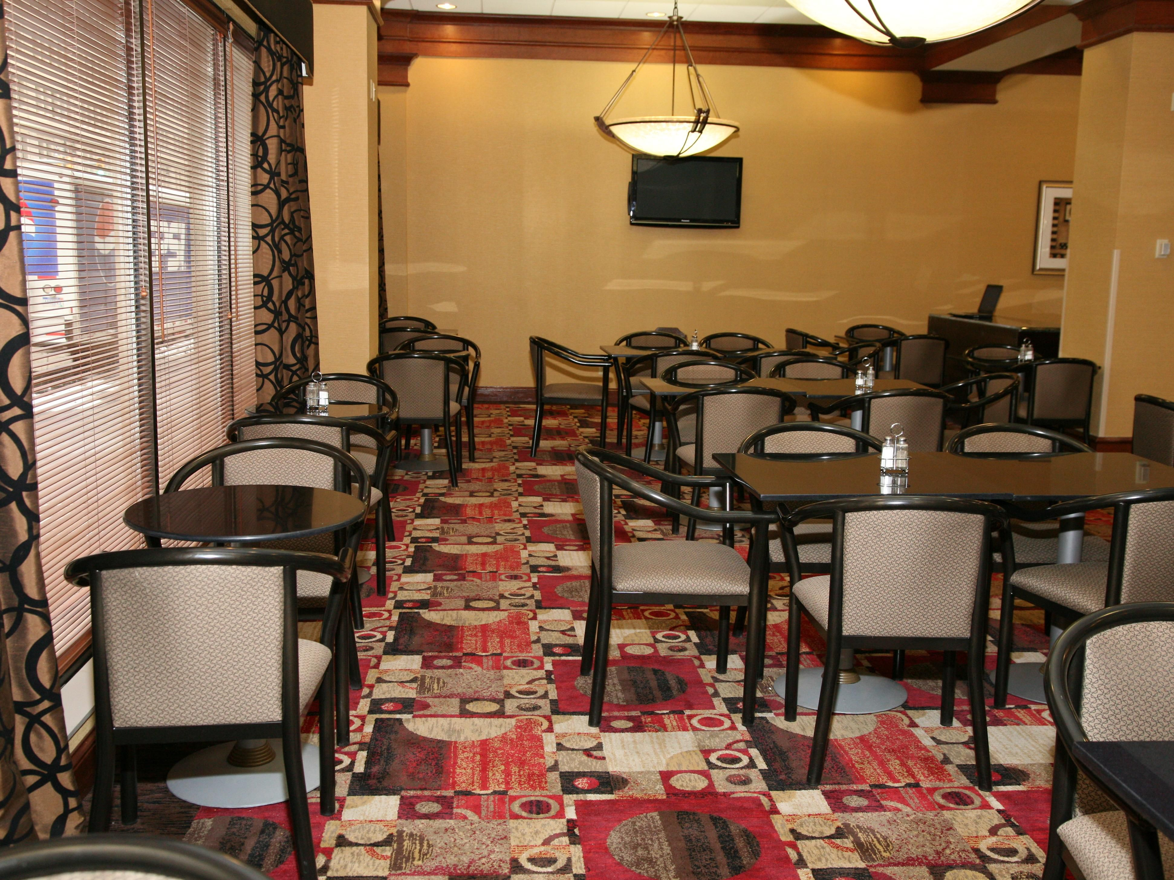 Complimentary Breakfast Area with Spacious Seating for Guests