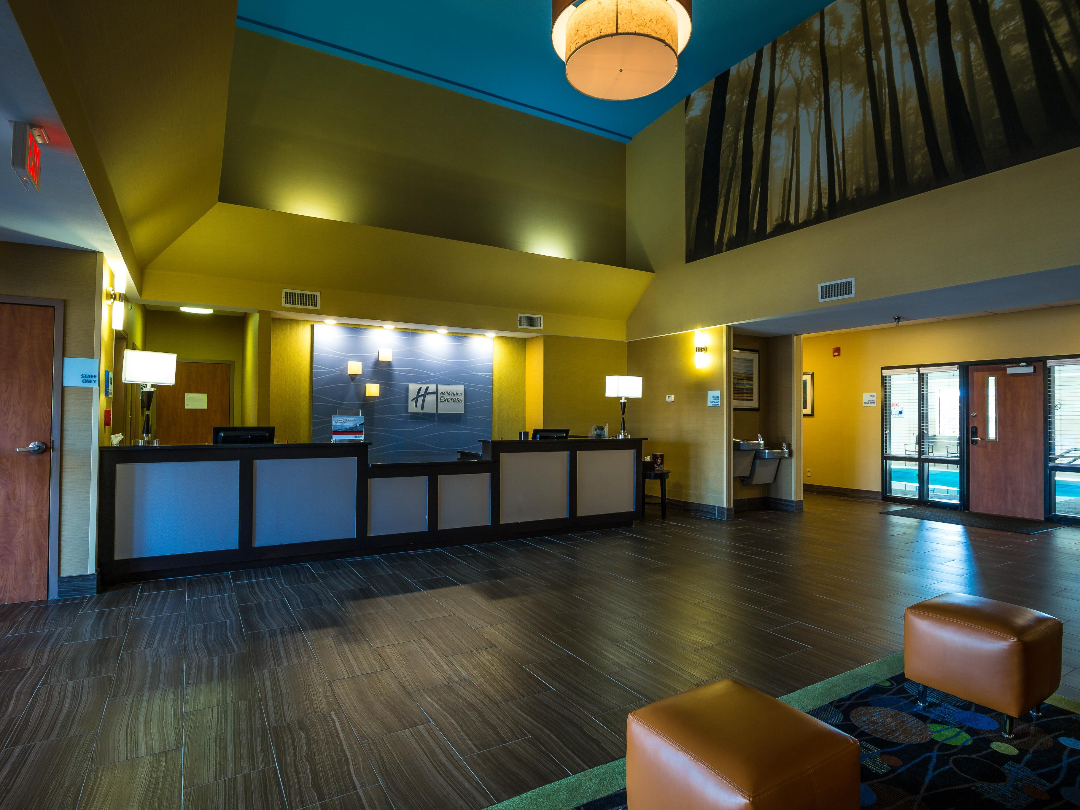 Enjoy our beautiful lobby as you check in!