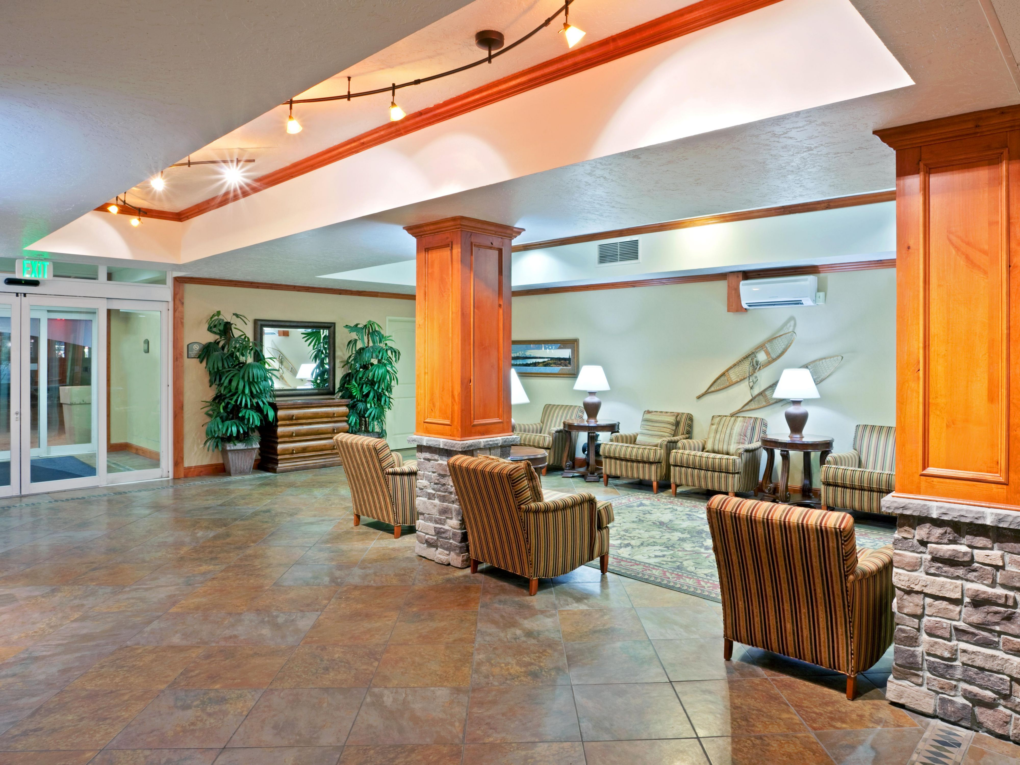 Relax in our cozy lobby at Holiday Inn Express & Suites Fairbanks
