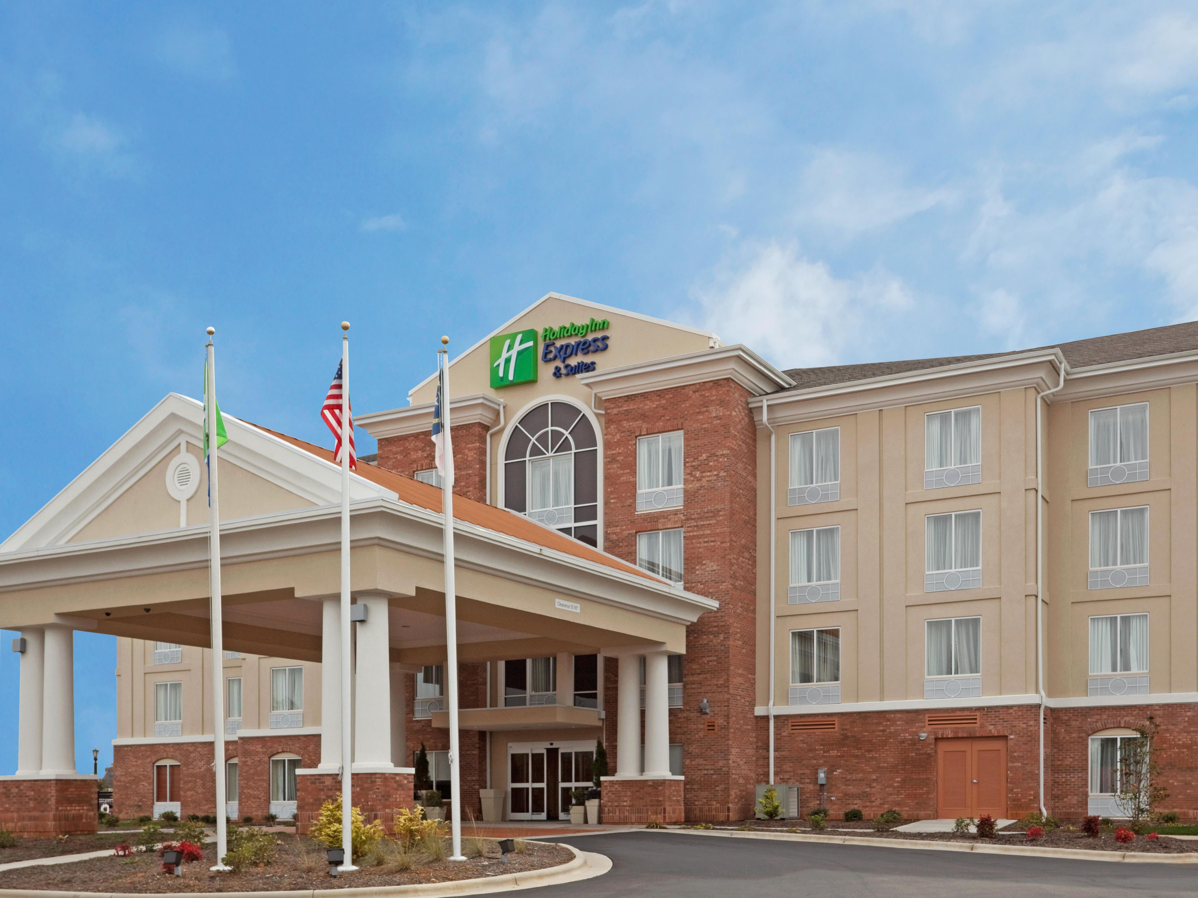 Welcome to the Holiday Inn Express Hotel & Suites.
