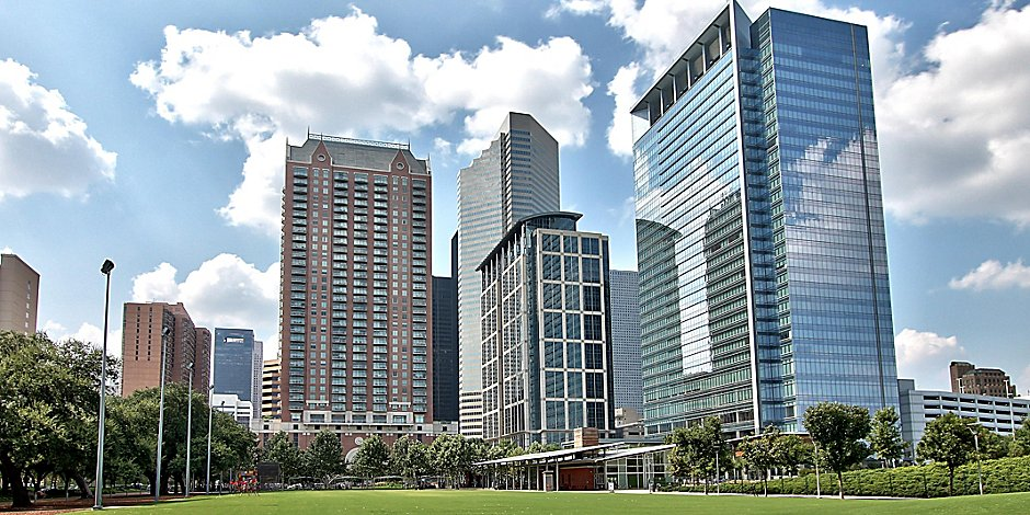 Map & Directions Downtown Houston Hotels Map on