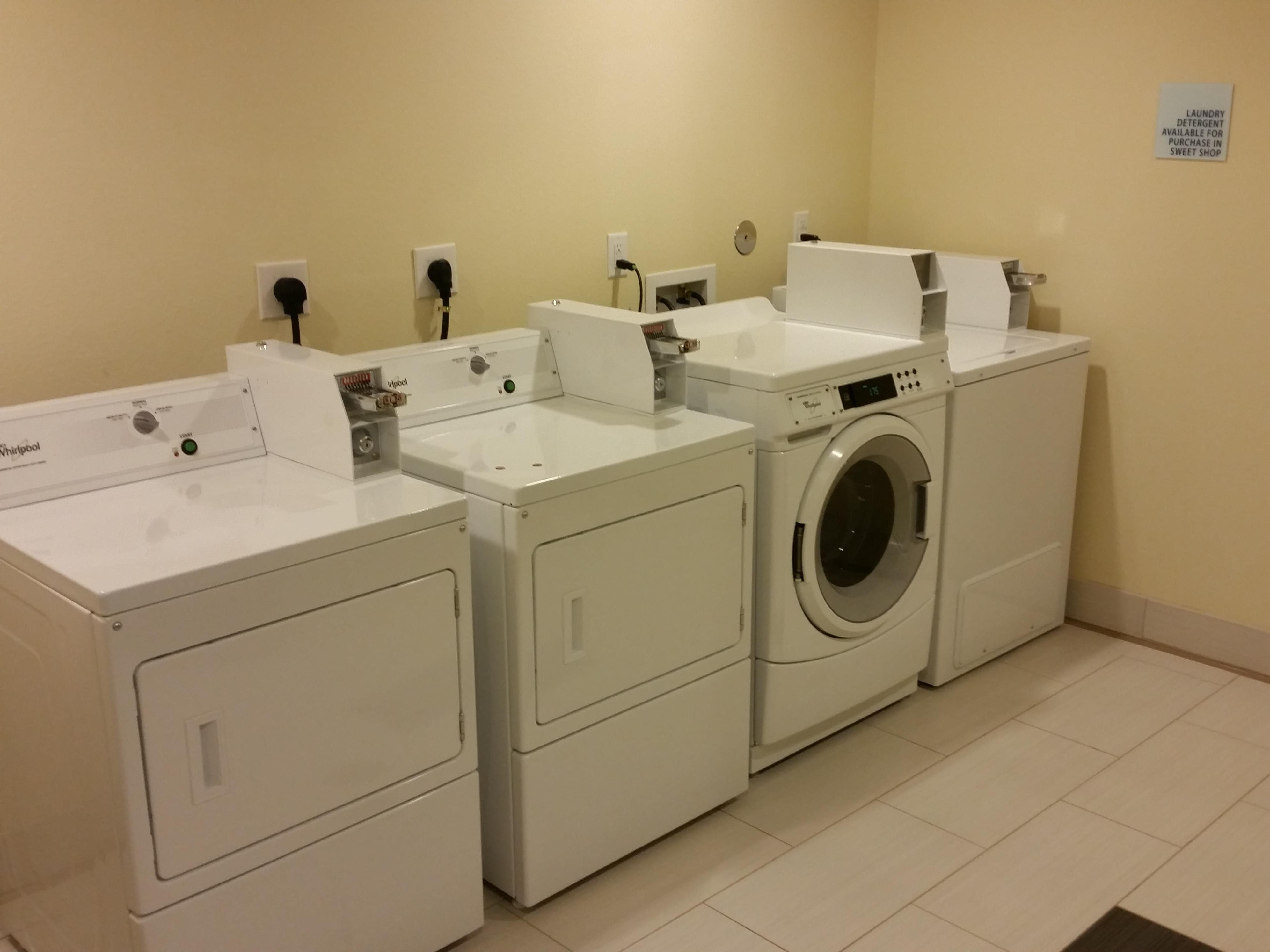 Guest Laundry is located on the second floor of the hotel