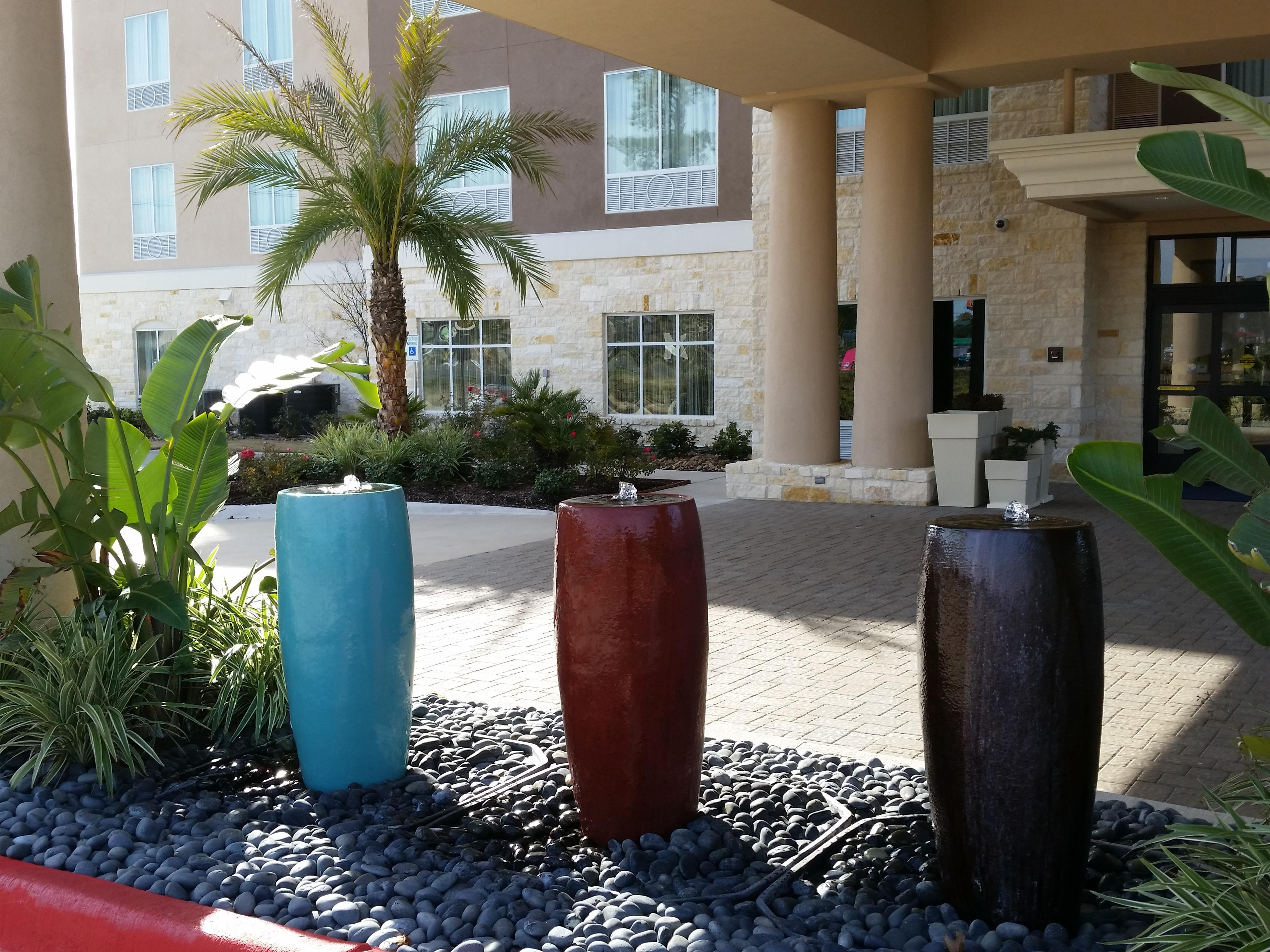 Bubbling Fountains at Hotel Entrance