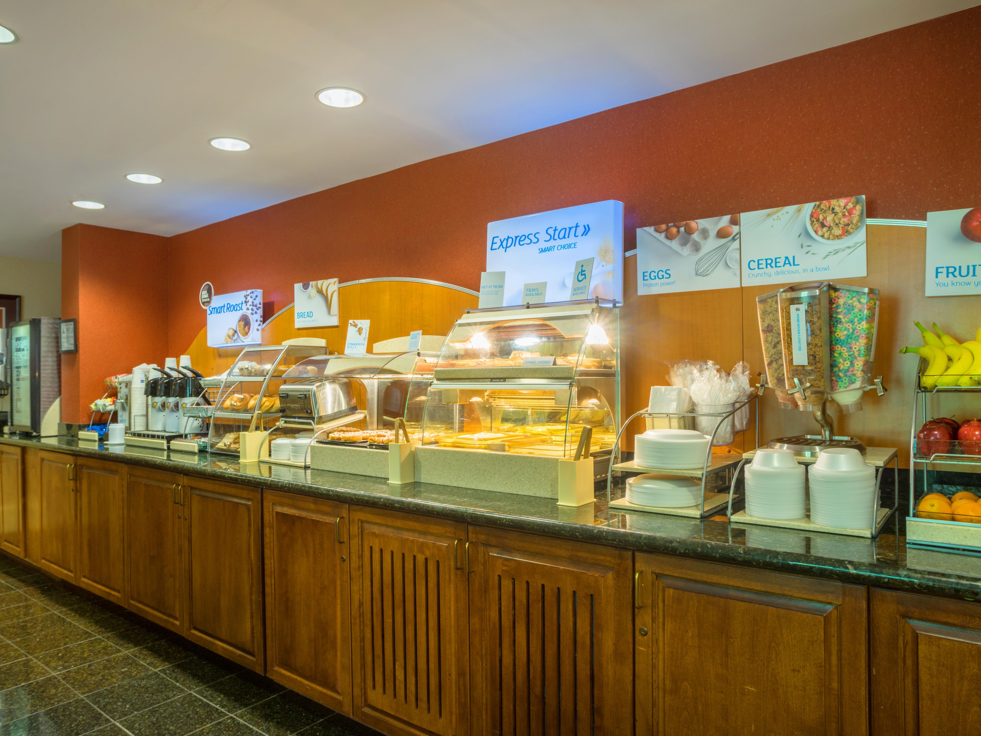 Enjoy our  breakfast buffet served daily