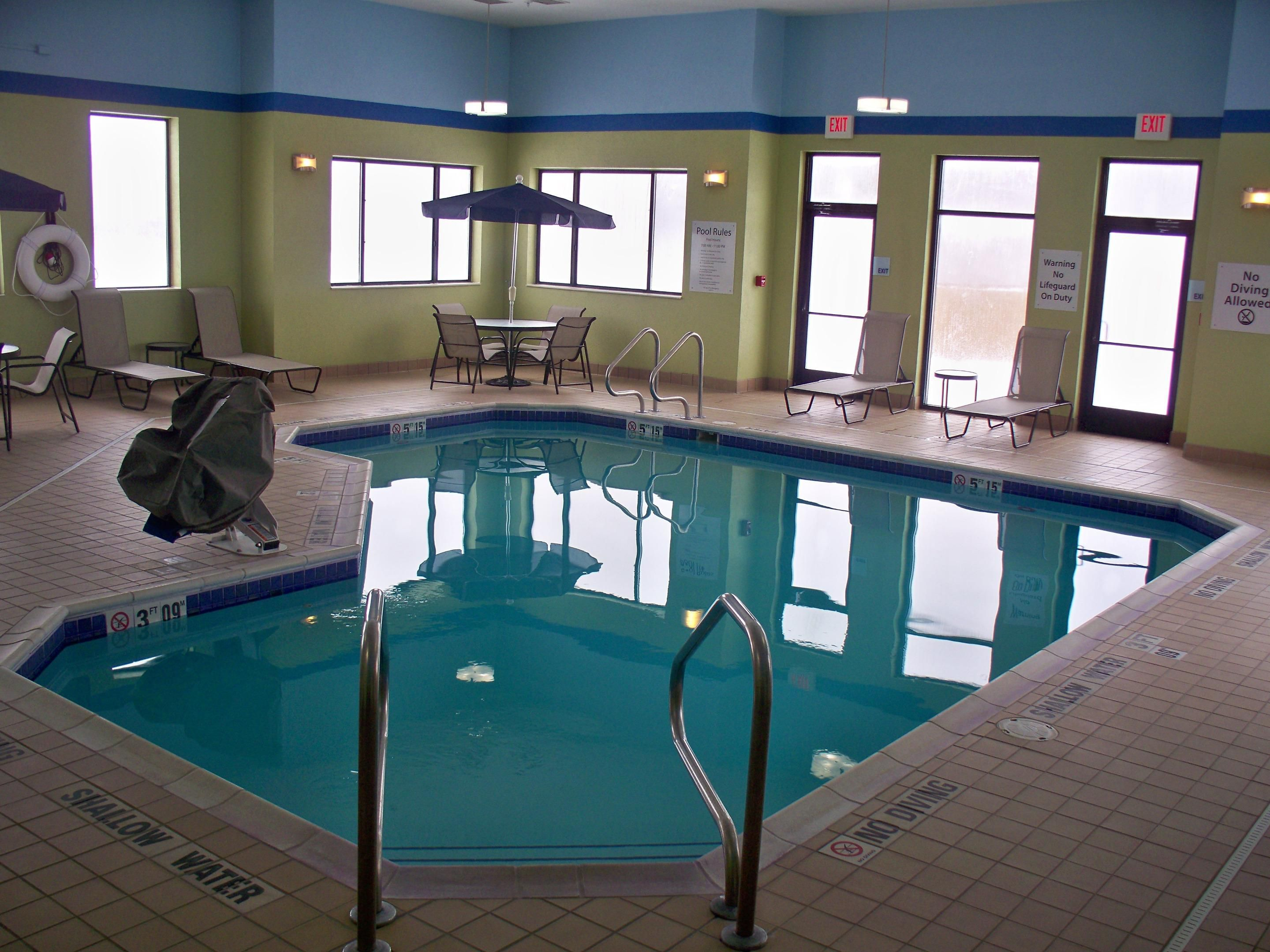 Relax and unwind in our heated indoor swimming pool