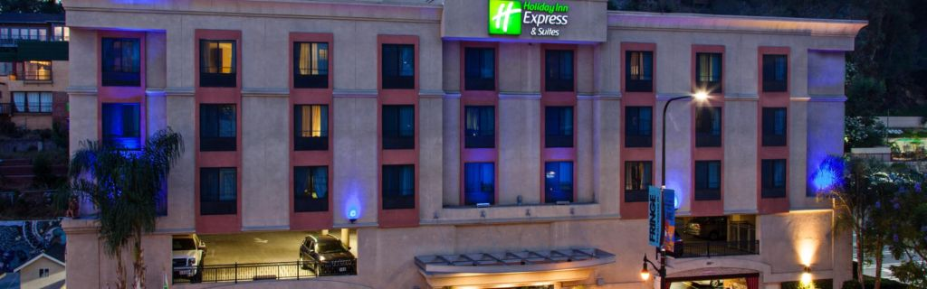 Hotel Entrance Front Desk Holiday Inn Express Suites Hollywood Walk Of Fame Exterior