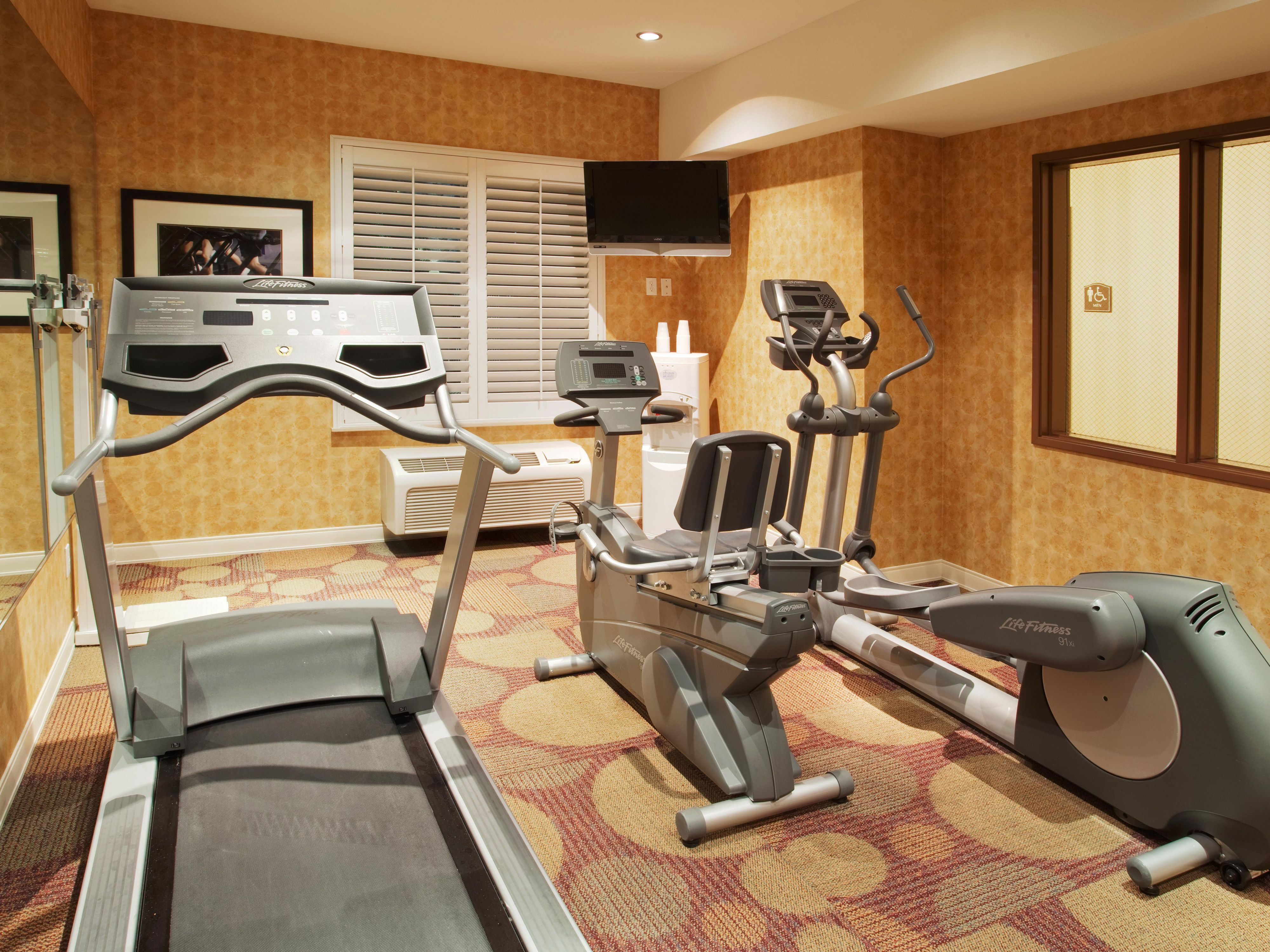 Choose from 3 cardio machines to fulfill your workout