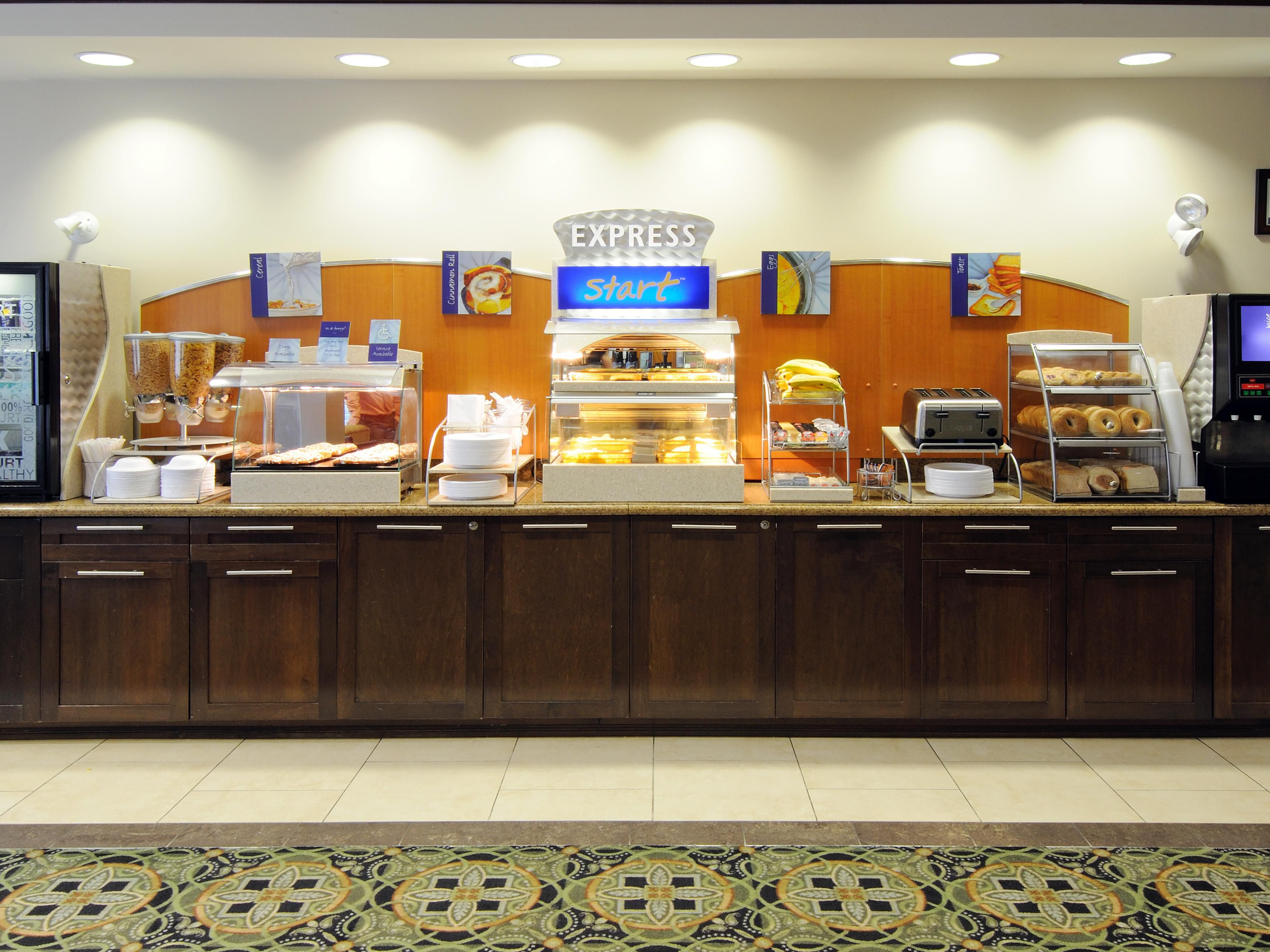 Complimentary Hot Buffet Breakfast Bar