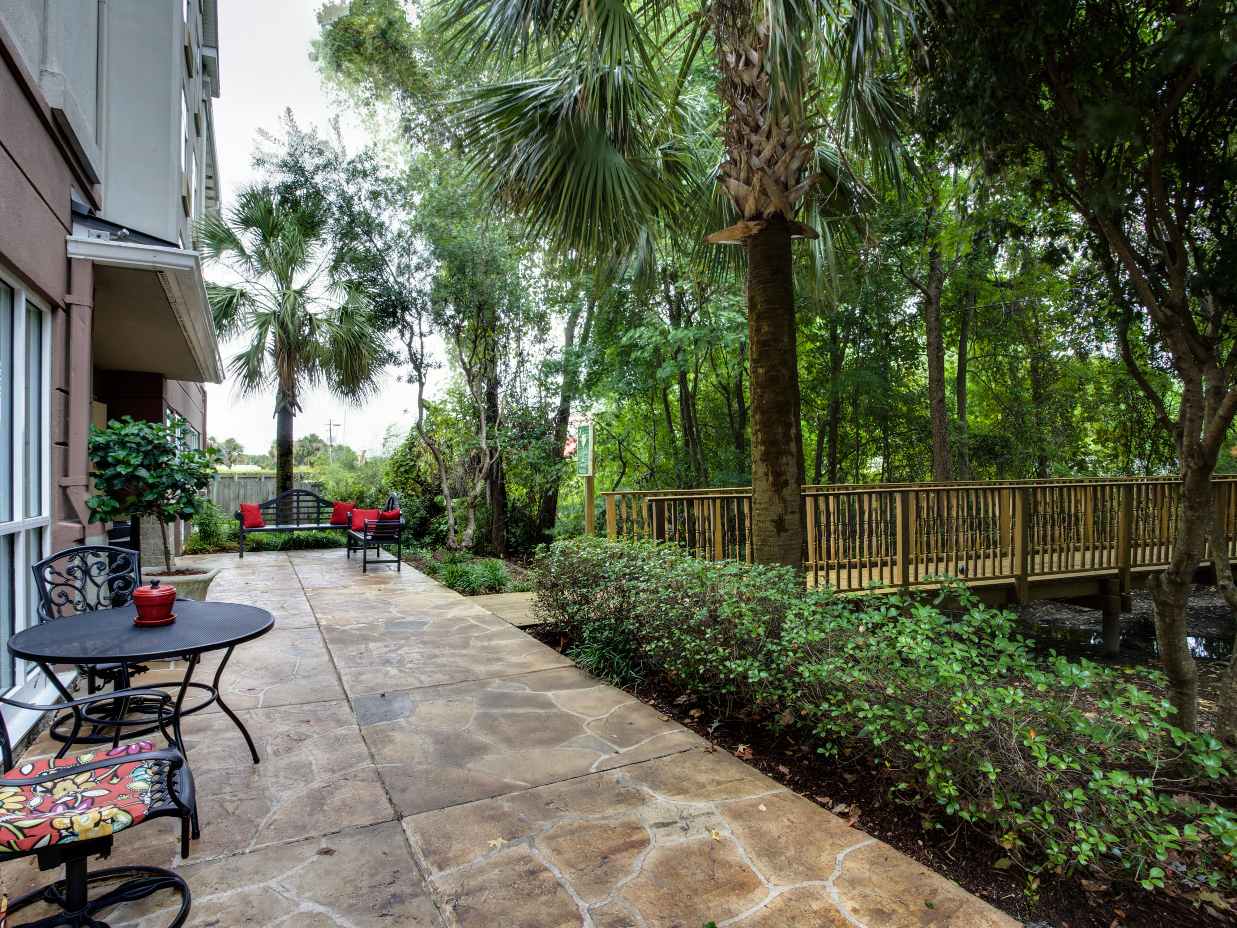 Relax on the Patio amidst our natural wetlands