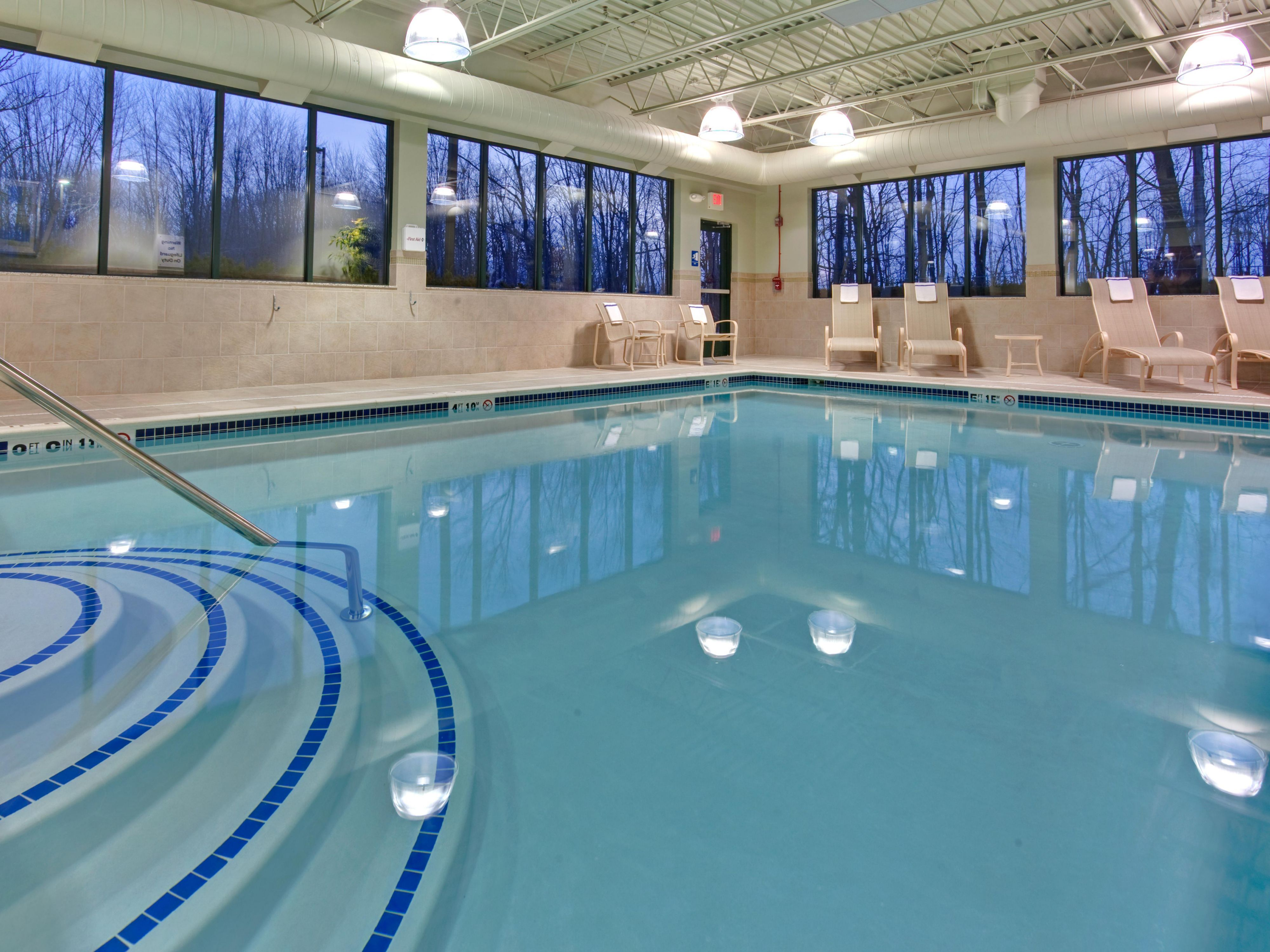 Perfect get away indoor swiming area with a great view of nature