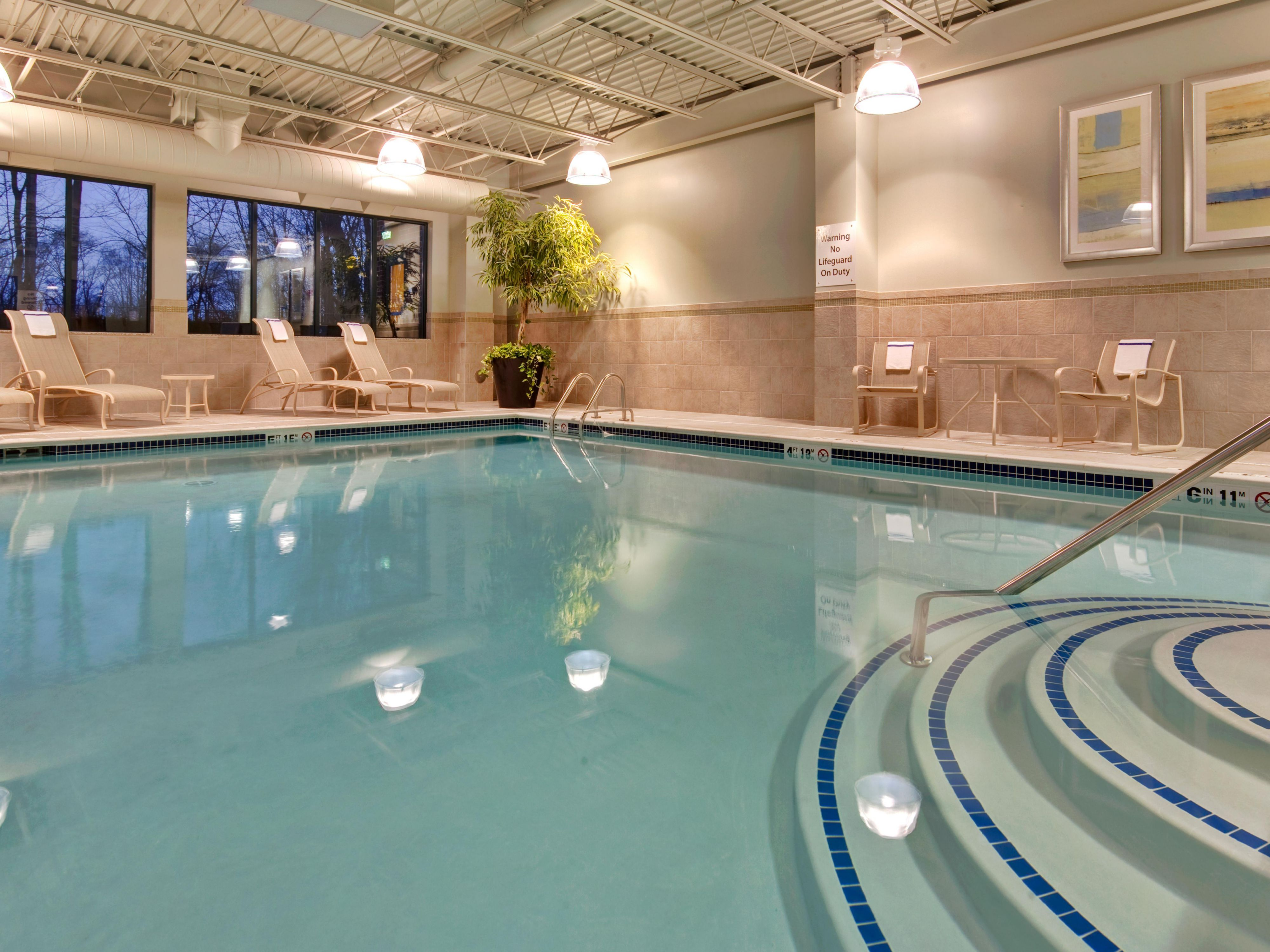 Relax in our heated indoor swiming pool