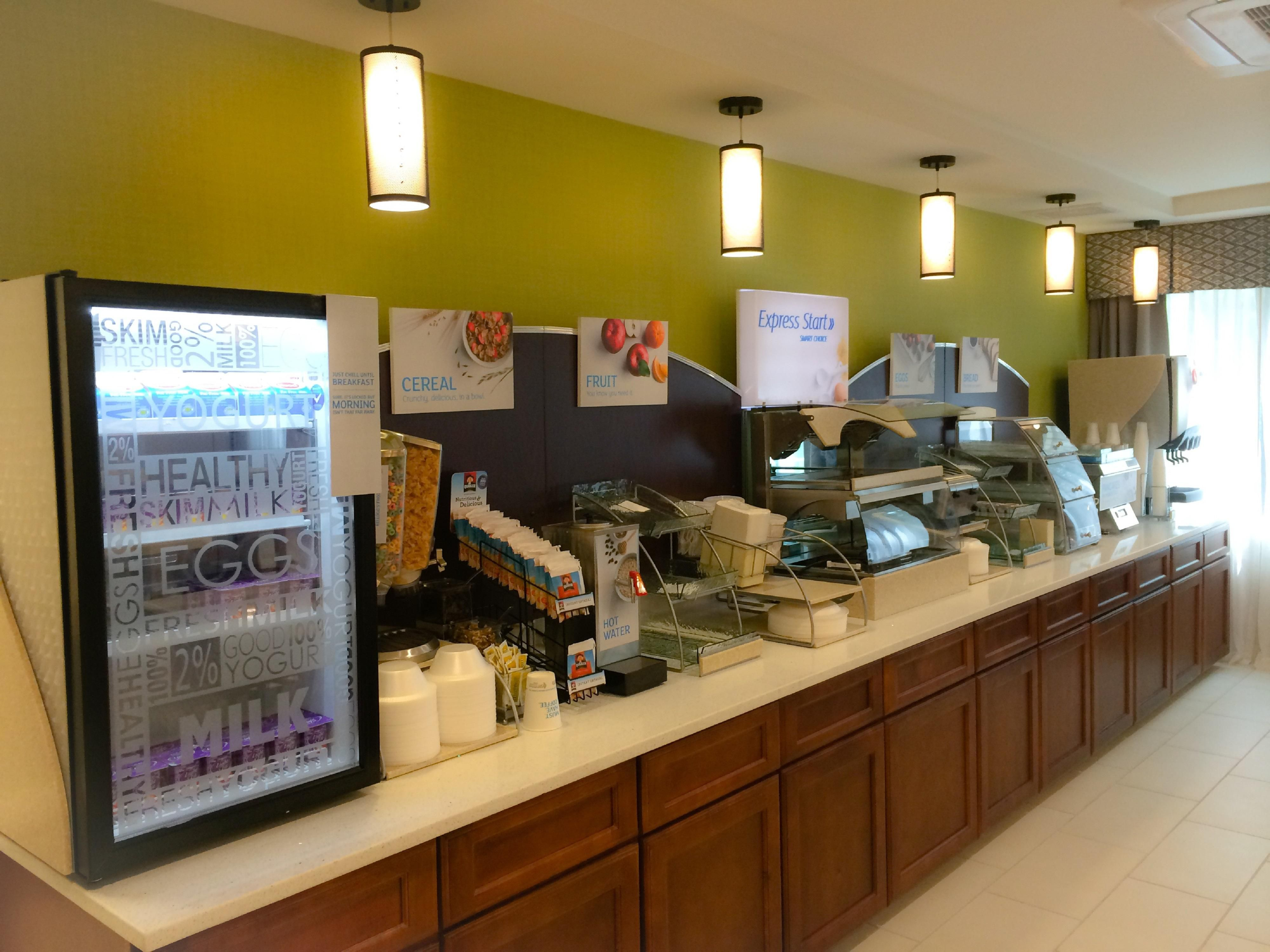Enjoy complimentary breakfast with new healthy options!