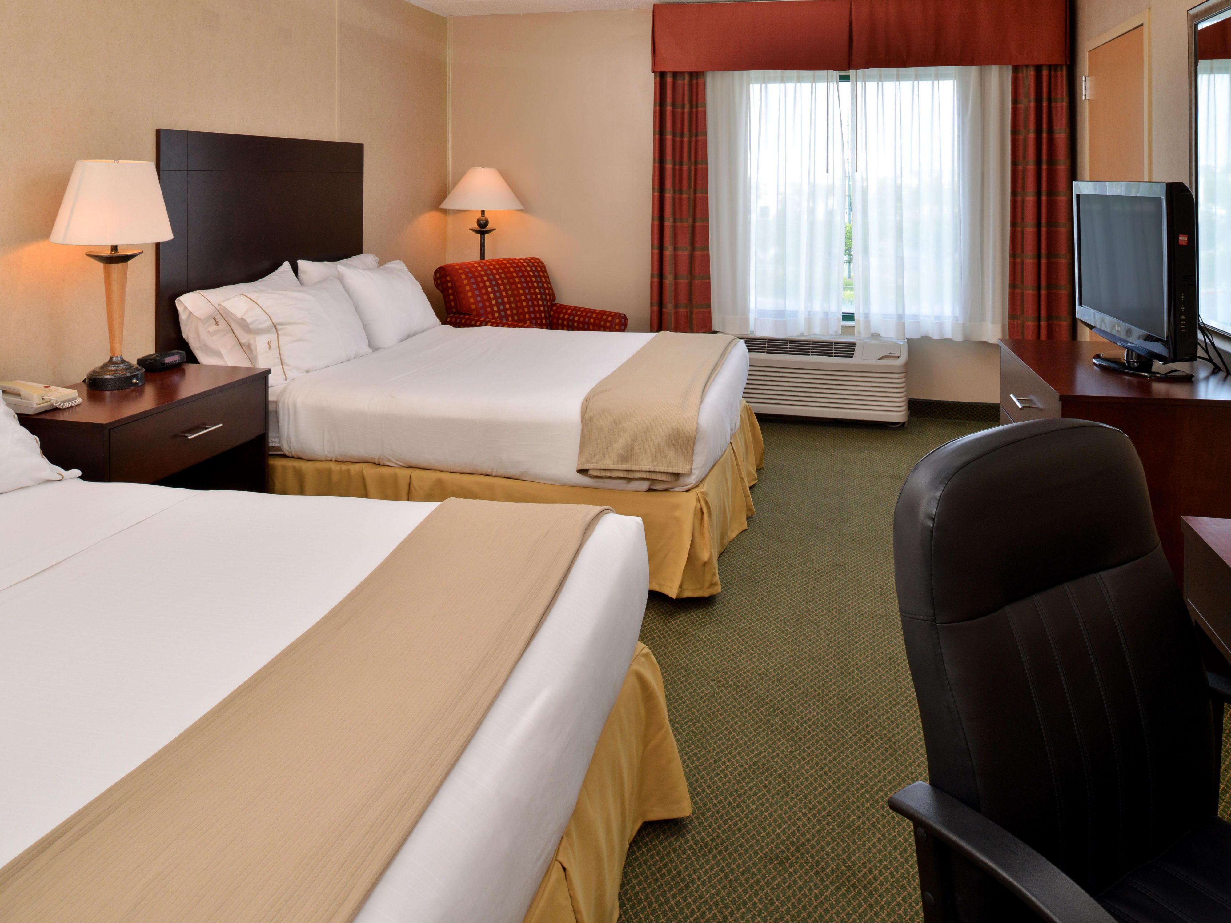 Relax and enjoy our newly renovated room with two queen beds