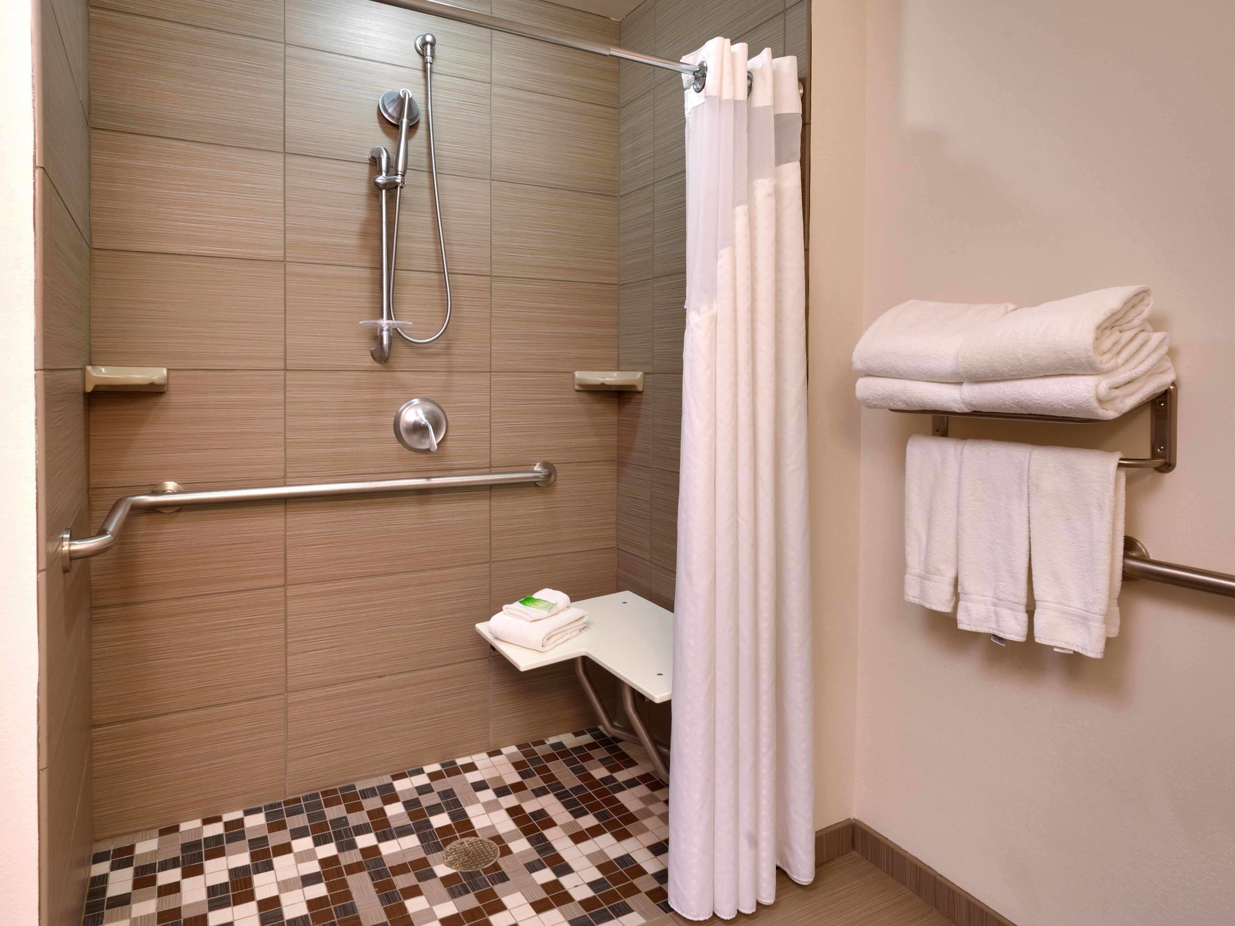 Roll in Shower - Holiday Inn Express & Suites, Overland Park, KS