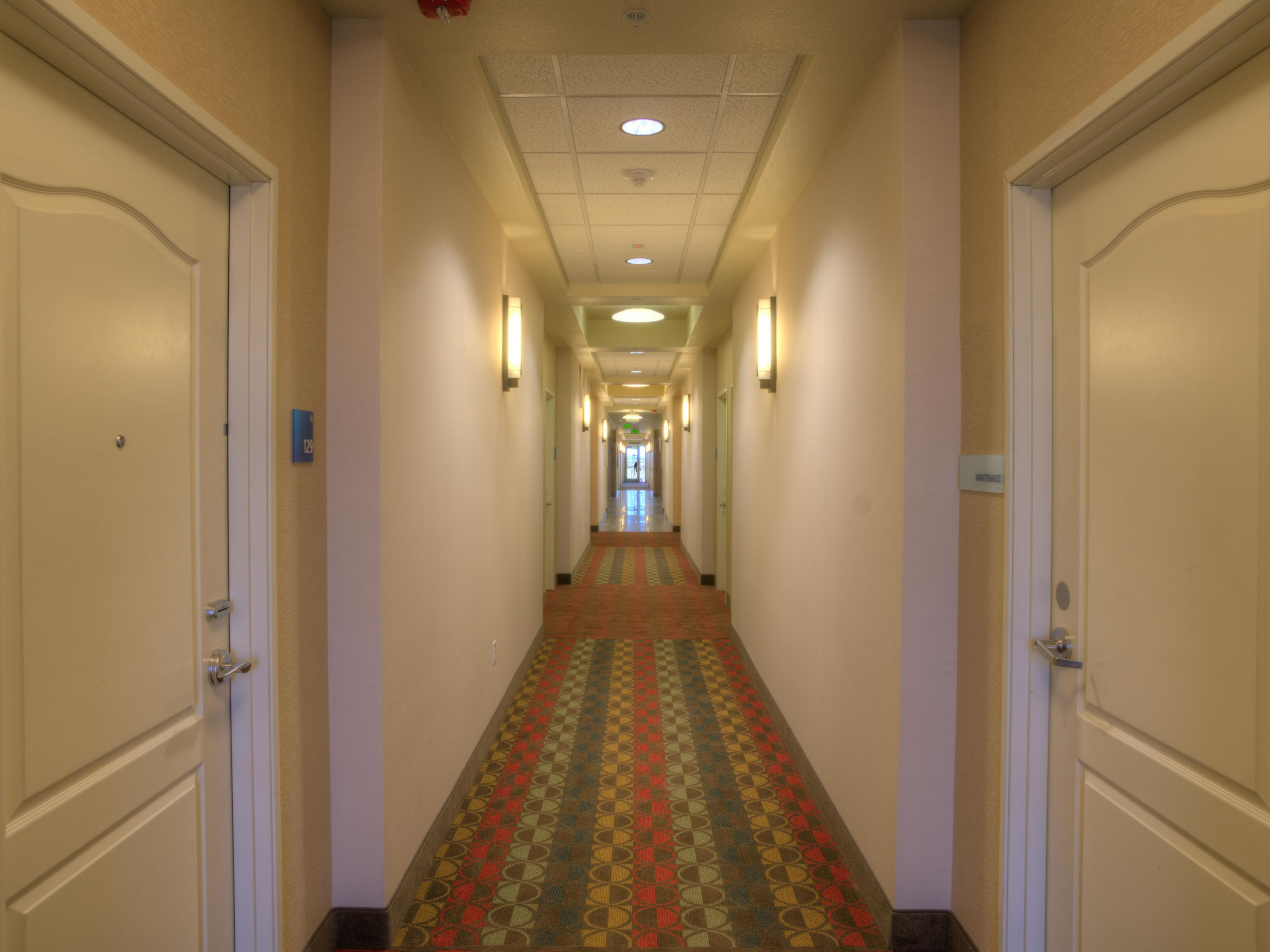 Our hotel offers interior corridor access to all our 104 rooms and