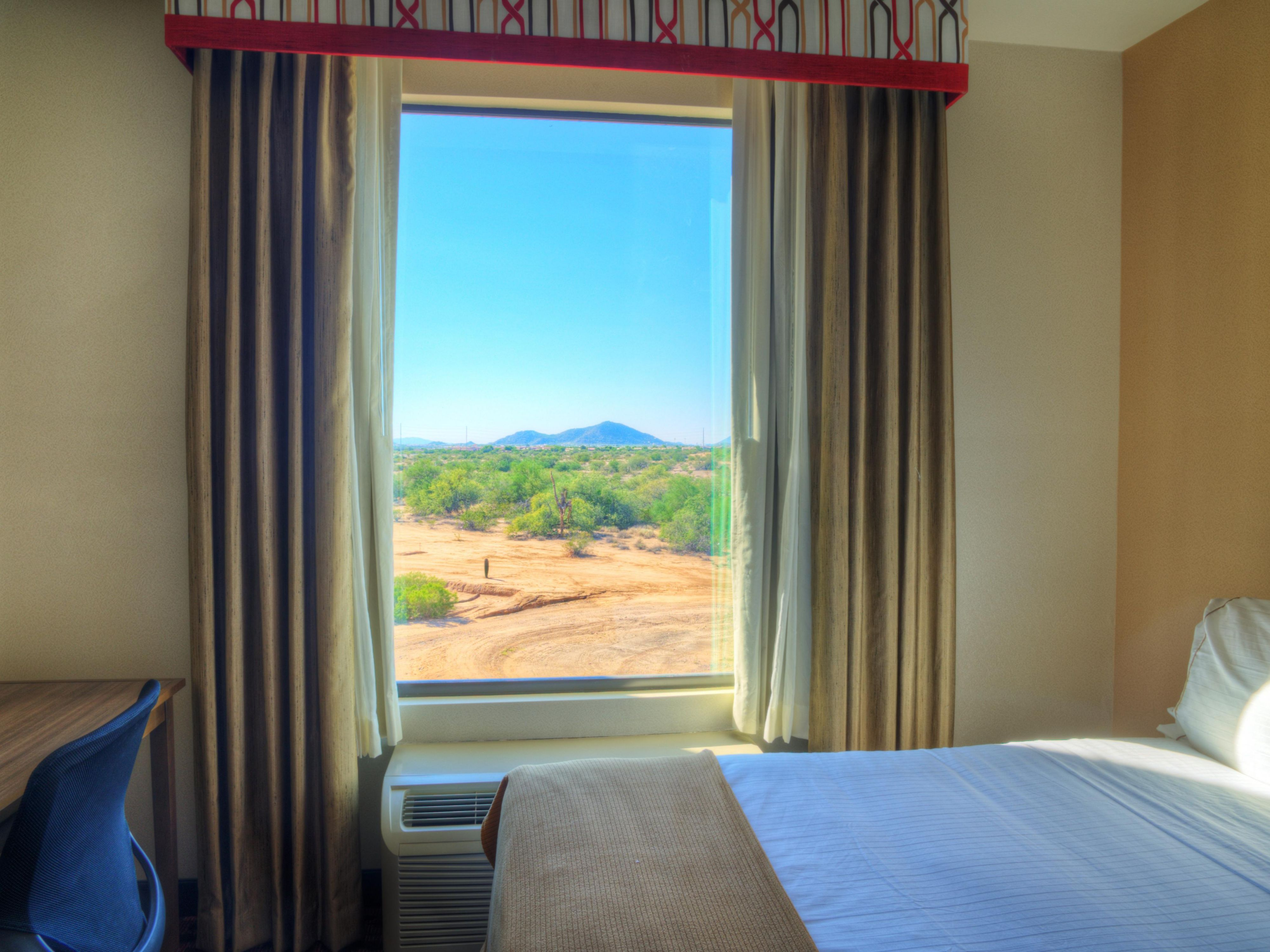 View of the beautiful desert landscape from your room