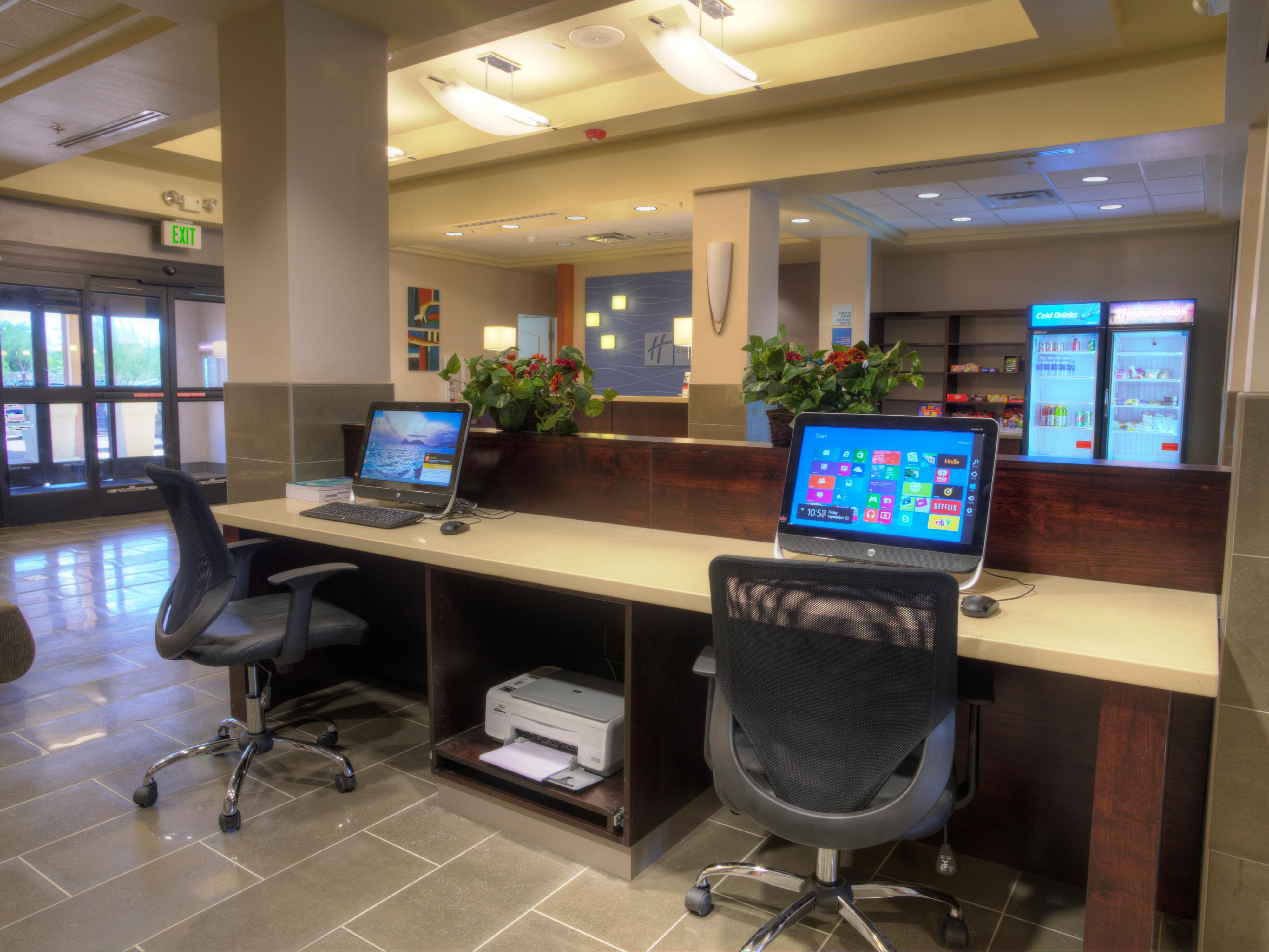 24 hour business center available for your convenience