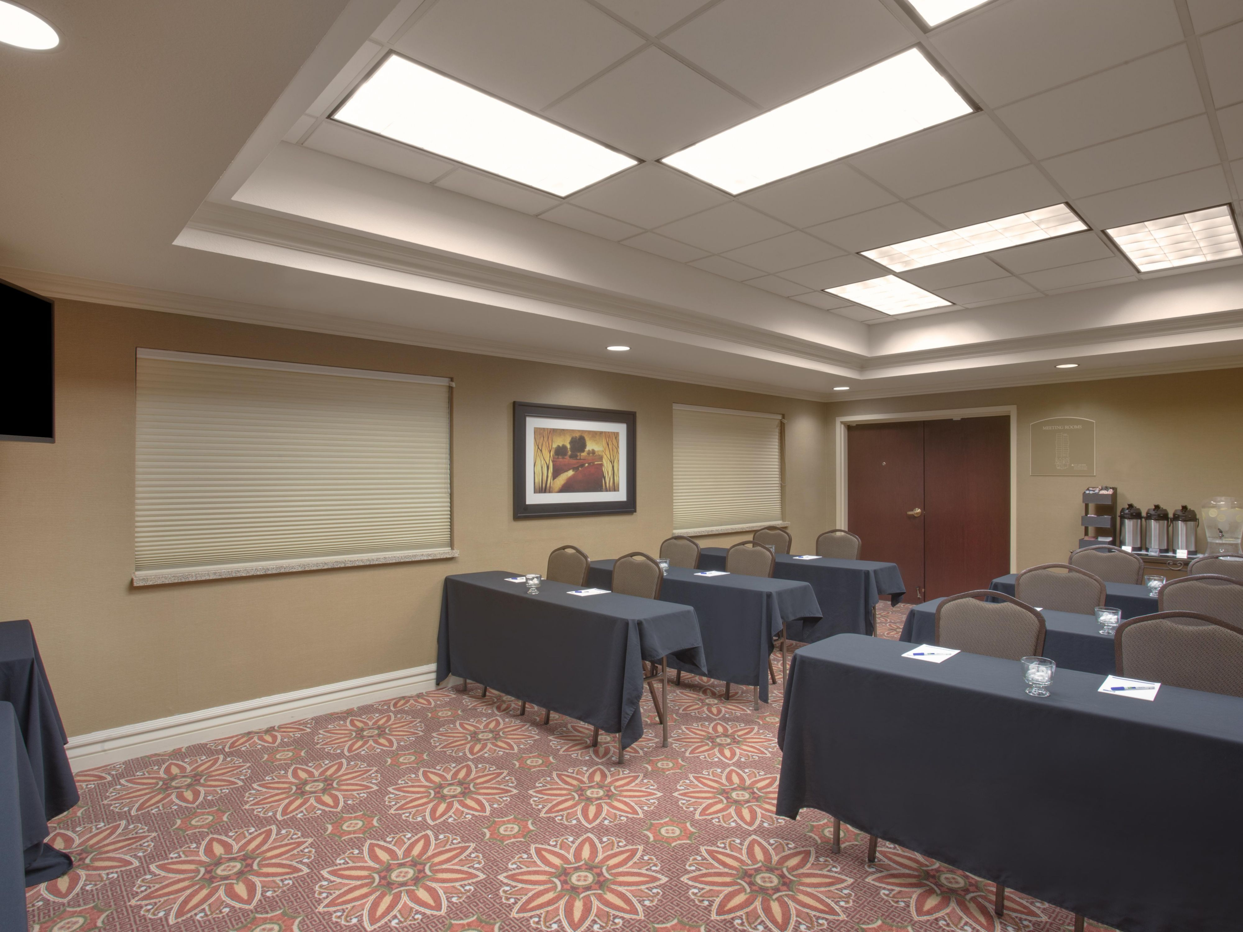 Suns Meeting Room, available in multiple set ups. Catering also