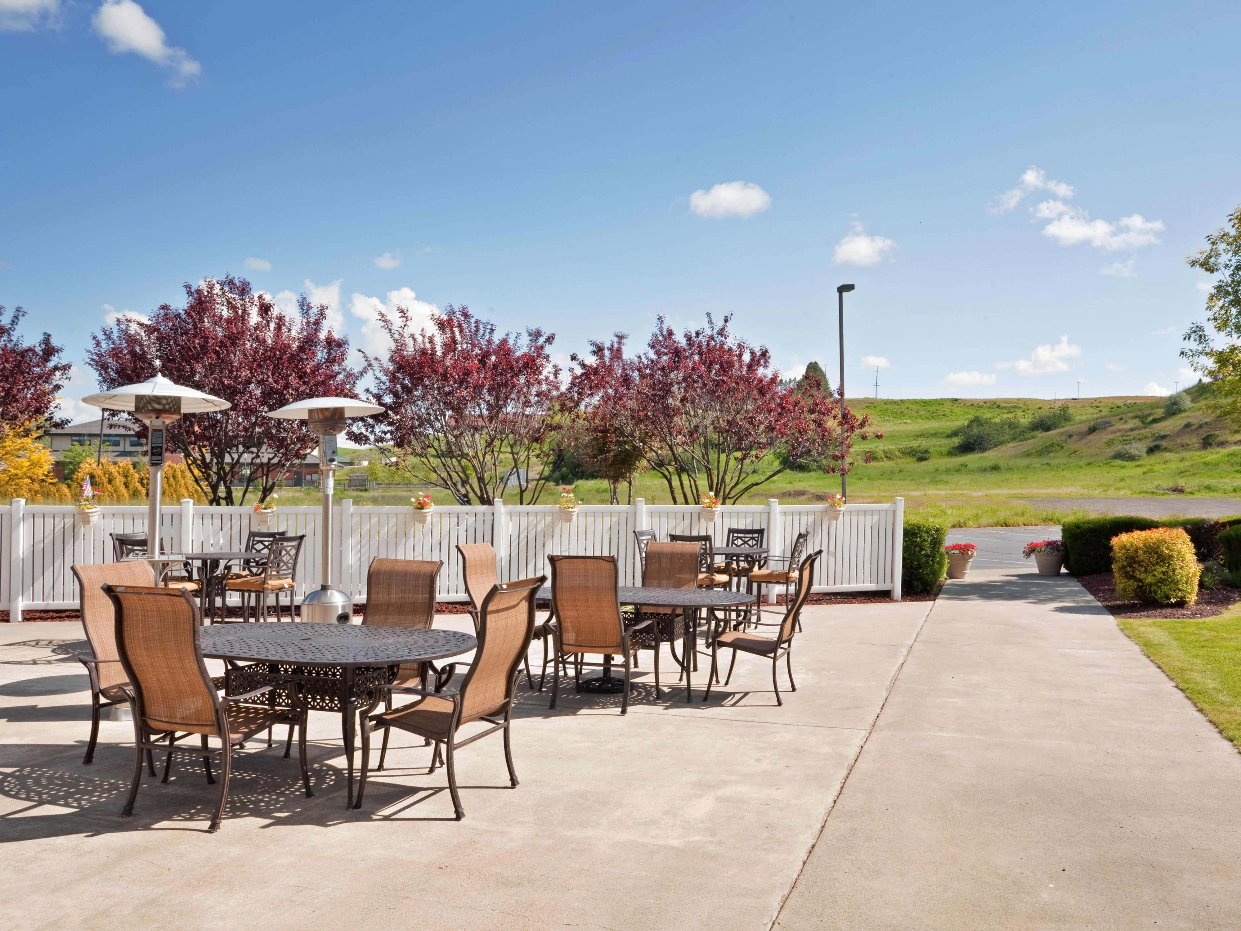 The patio is a great place to bbq and enjoy the sun.